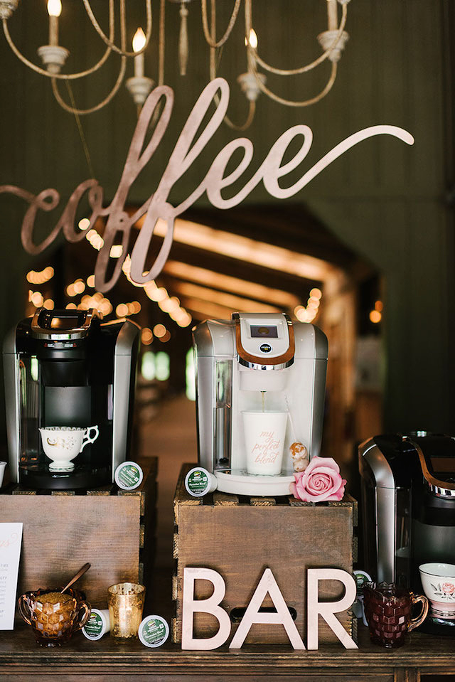 coffee wedding ideas coffee bar signs keurig