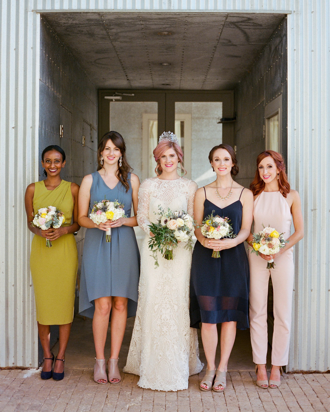 Mix-and-Match Bridesmaids