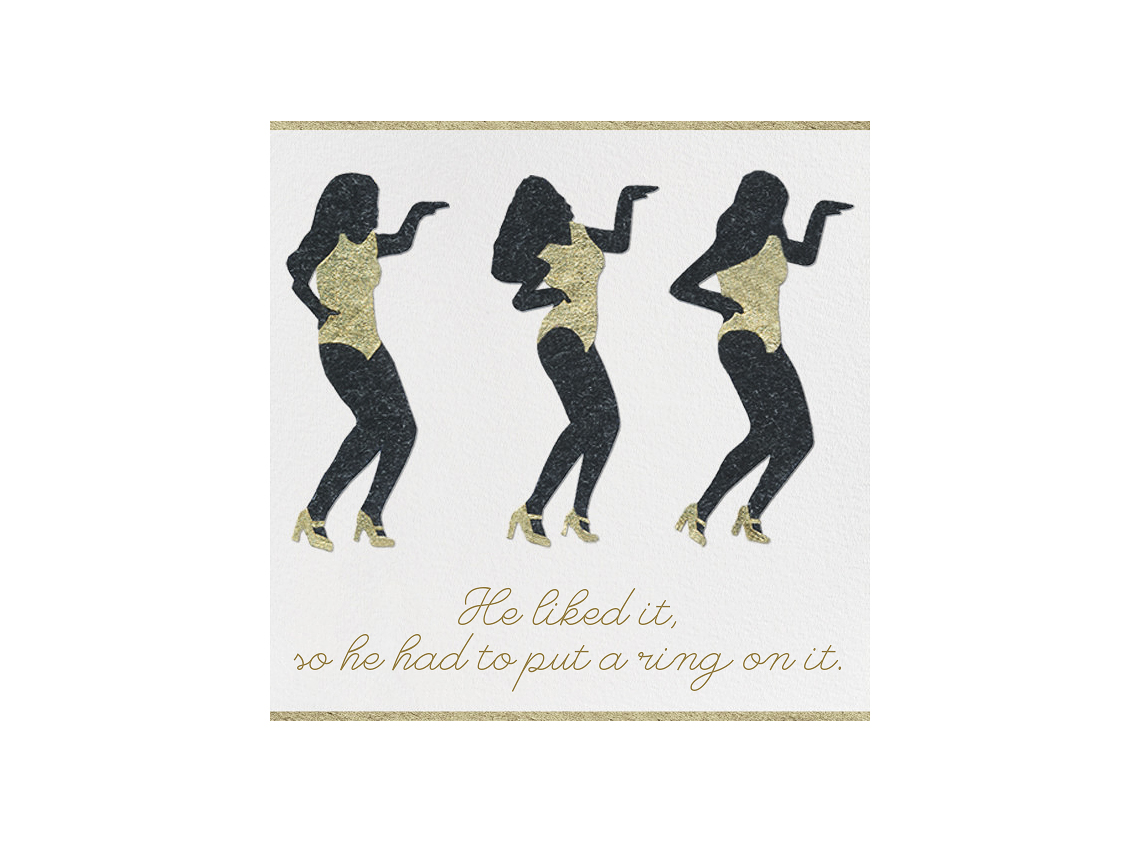 paperless engagement party invite beyonce
