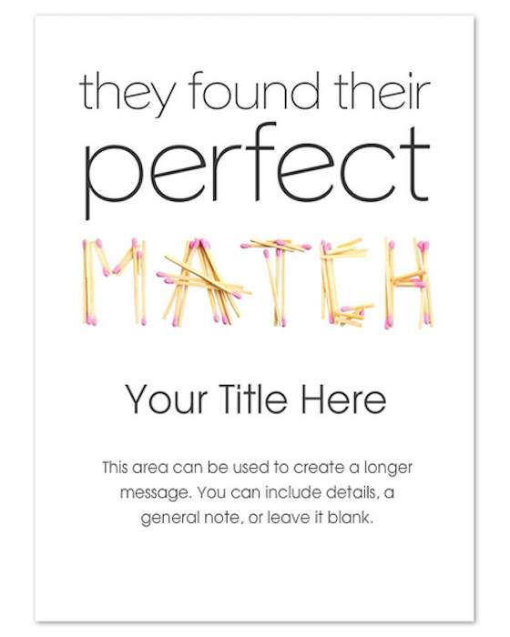 Perfect Match Paperless Invitation
