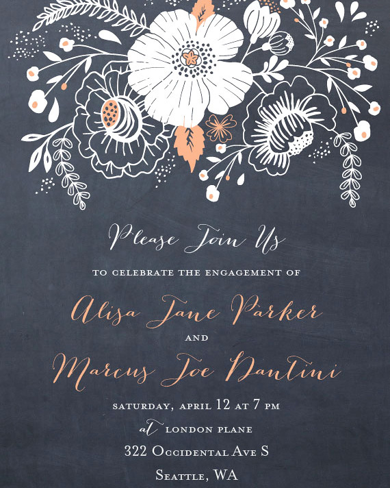 Floral Paperless Invitation