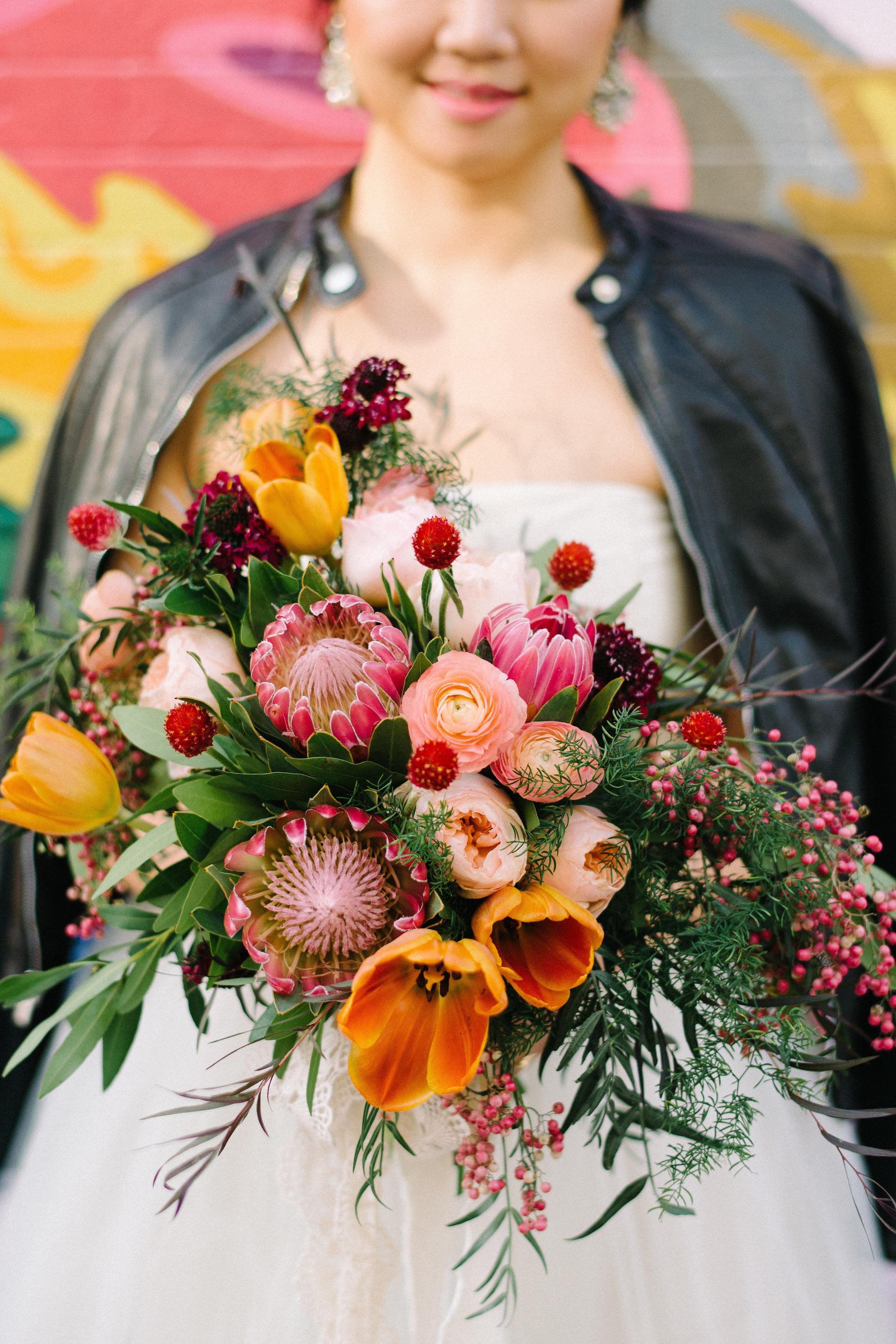 protea wedding bouquets lindsay hackney