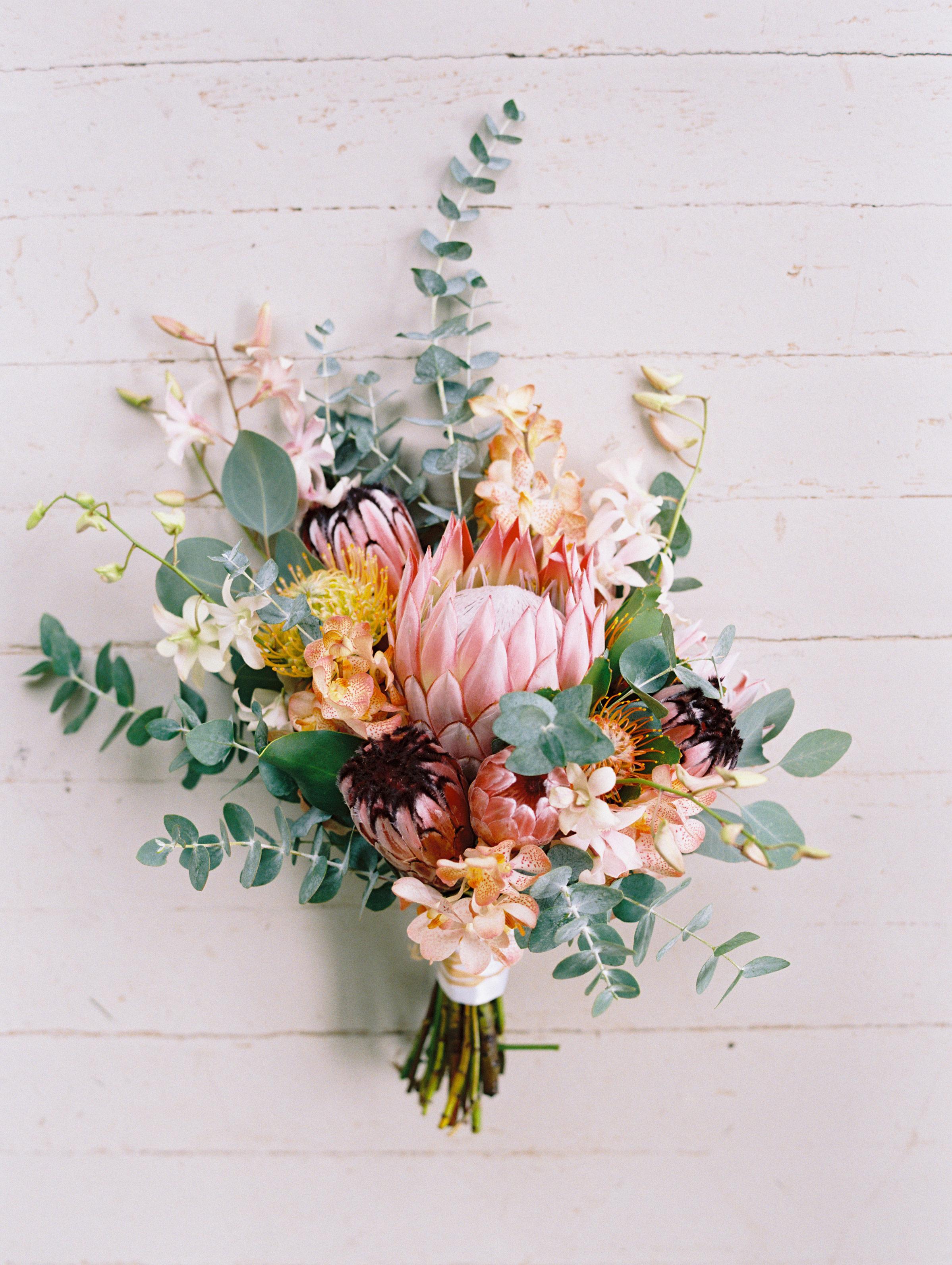 protea wedding bouquets wendy laurel