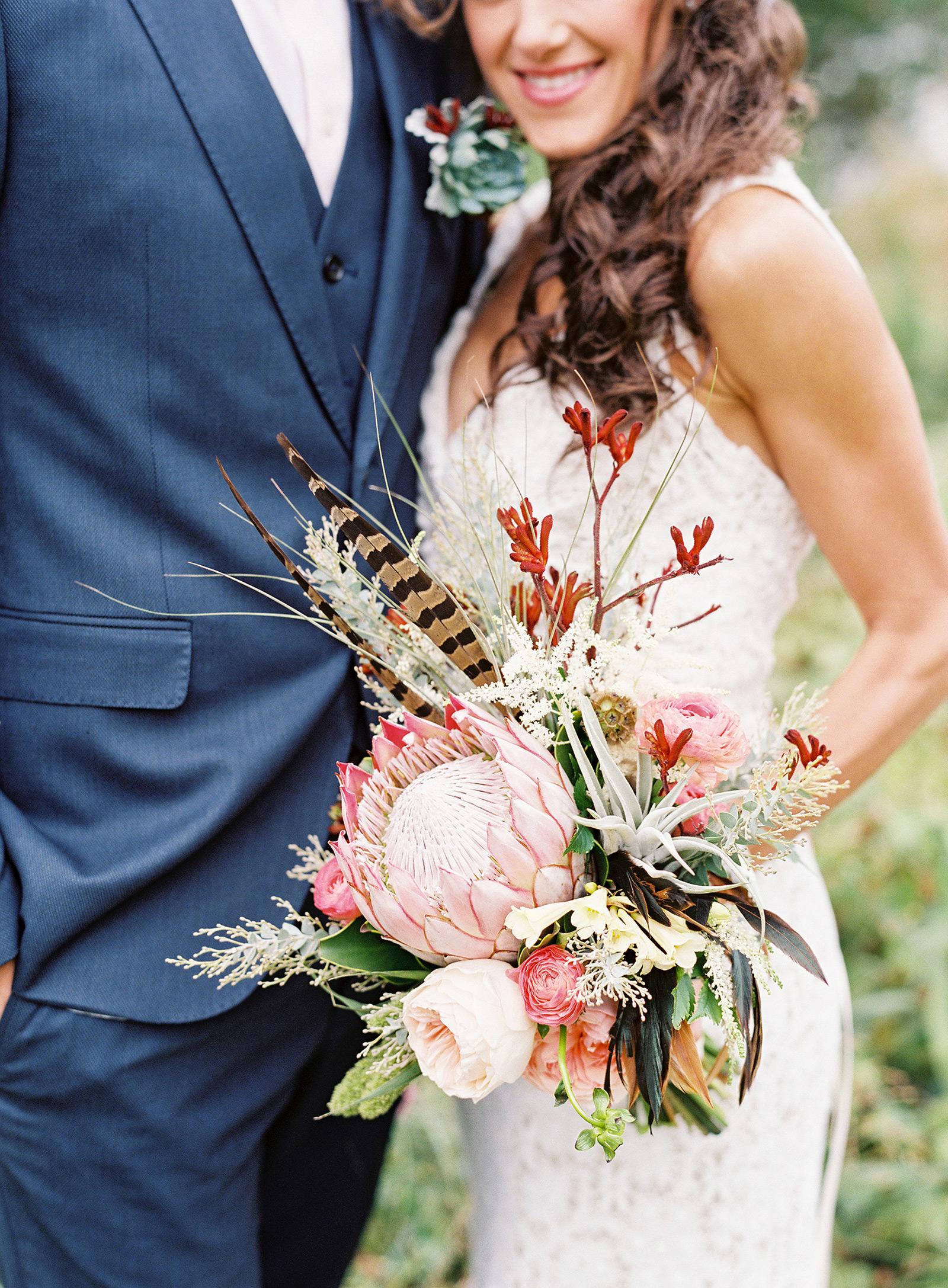protea wedding bouquets lauren peele