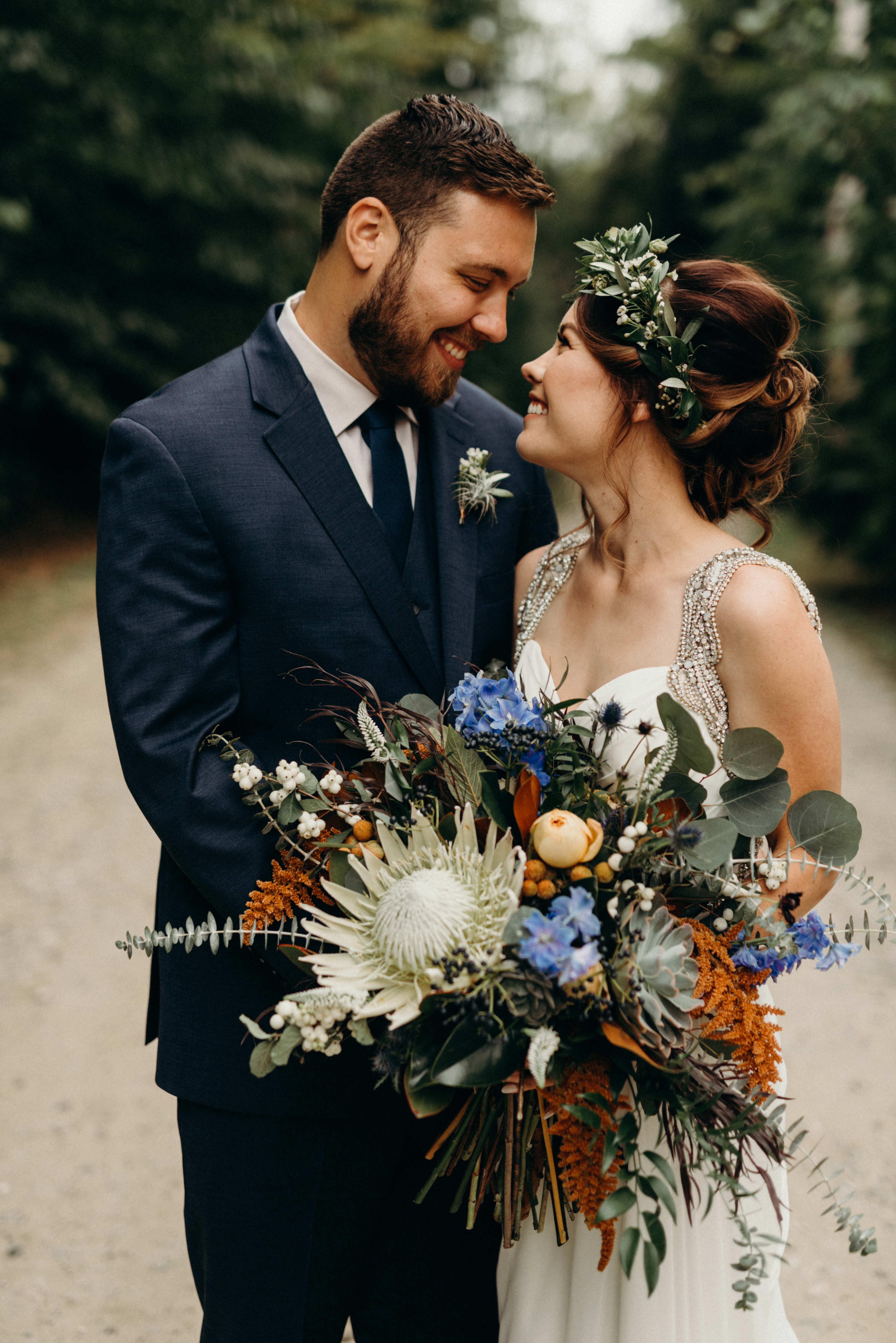 protea wedding bouquets kaihla tonai