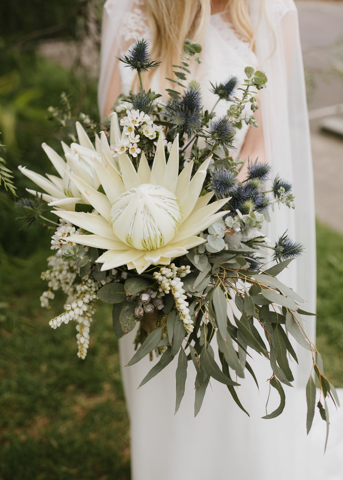 protea wedding bouquets madeline druce