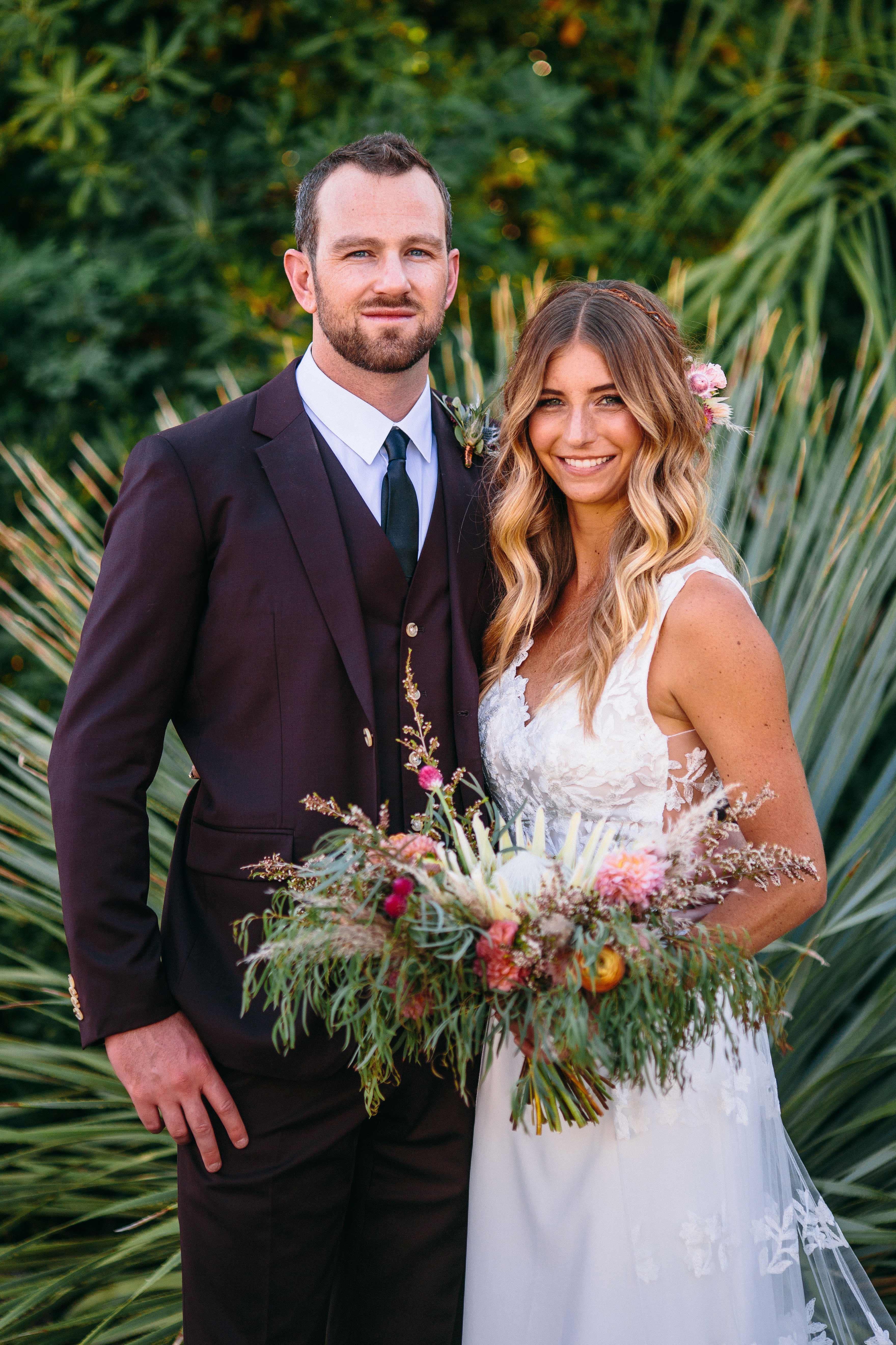 protea wedding bouquets brett tori photographers