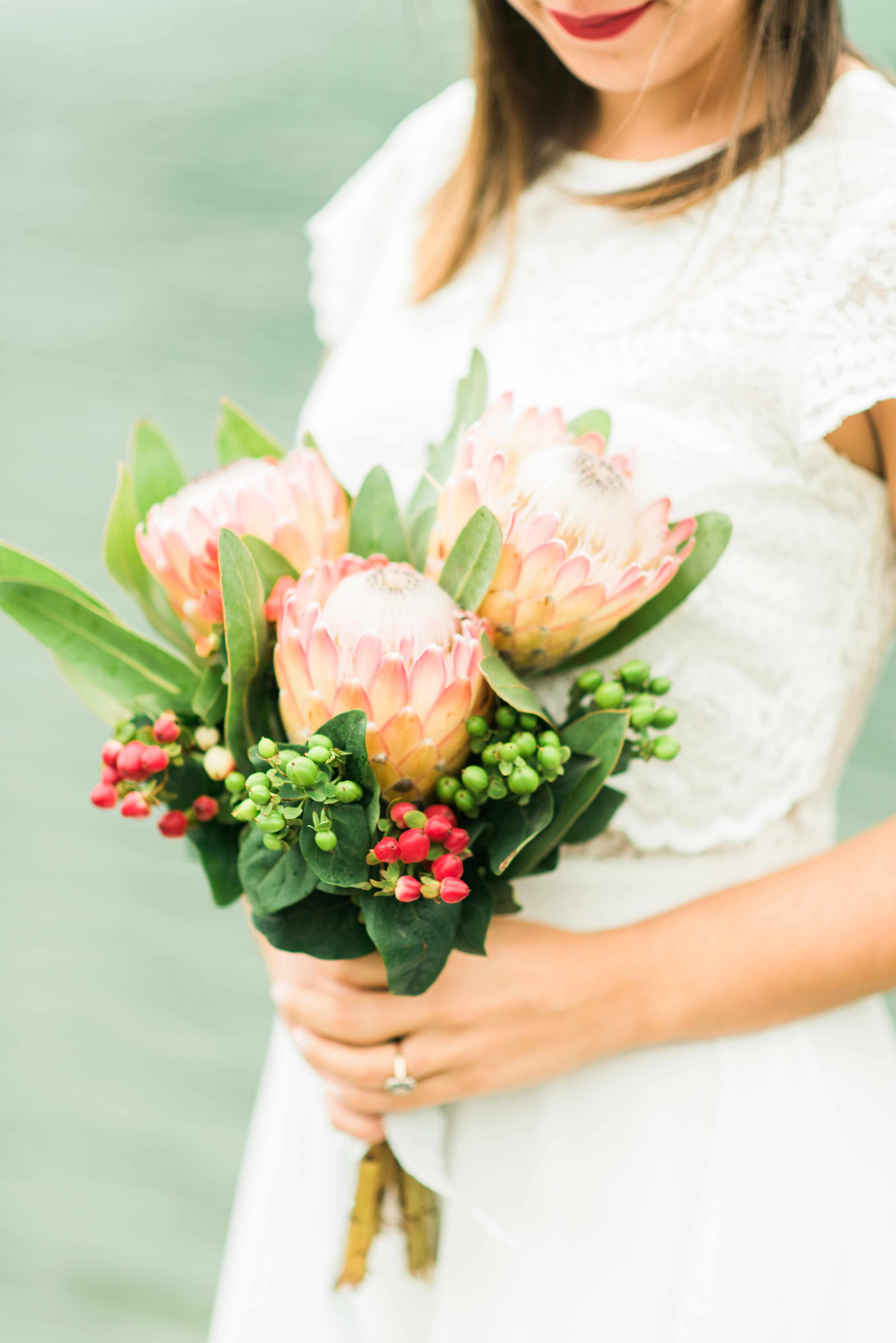 protea wedding bouquets adriana morais