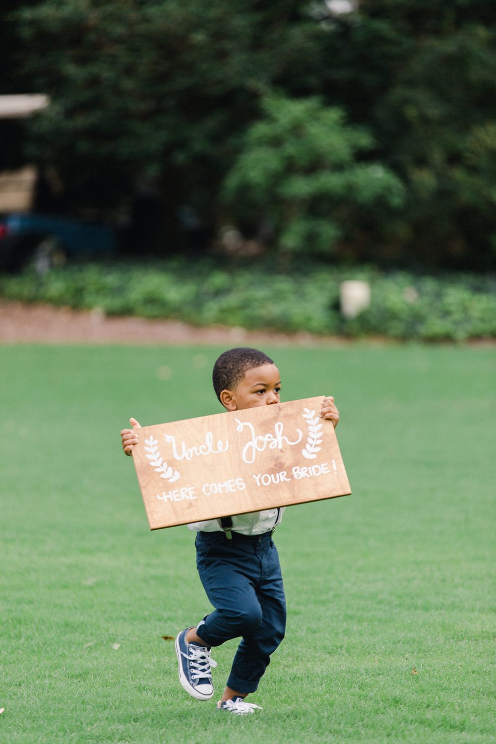 ring bearer processional sign running