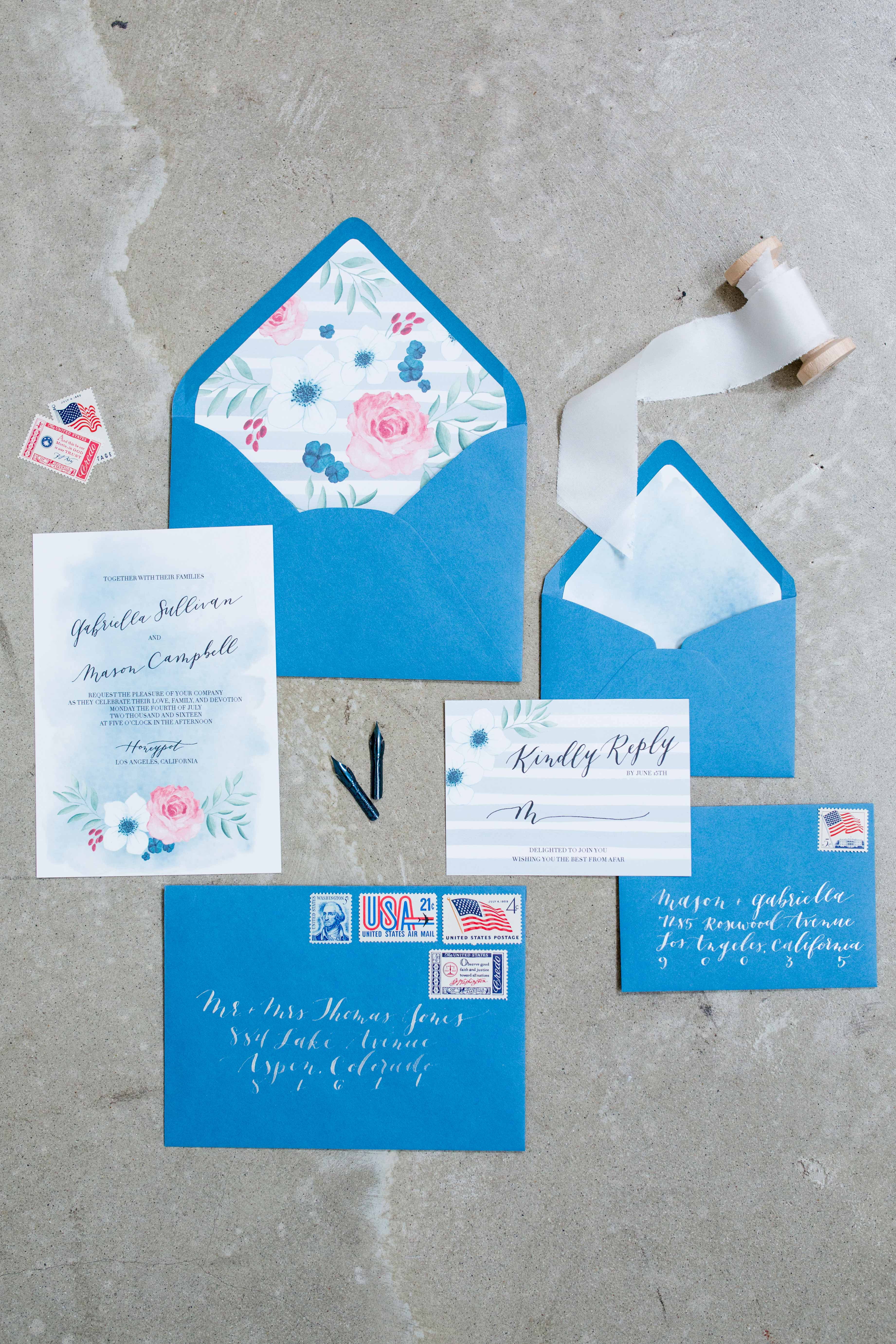 fourth of july wedding ideas meghan christine photography stationary