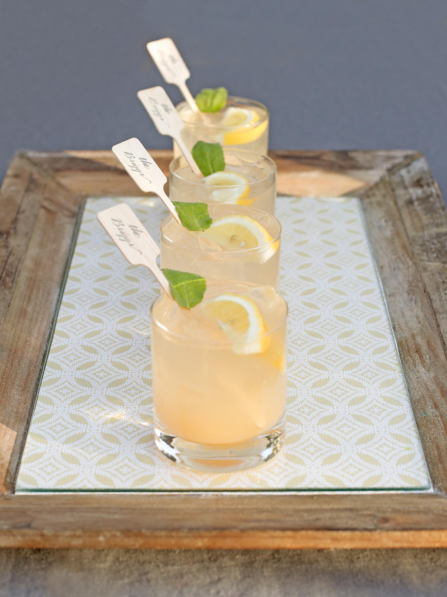 drinks with personalized swizzle sticks