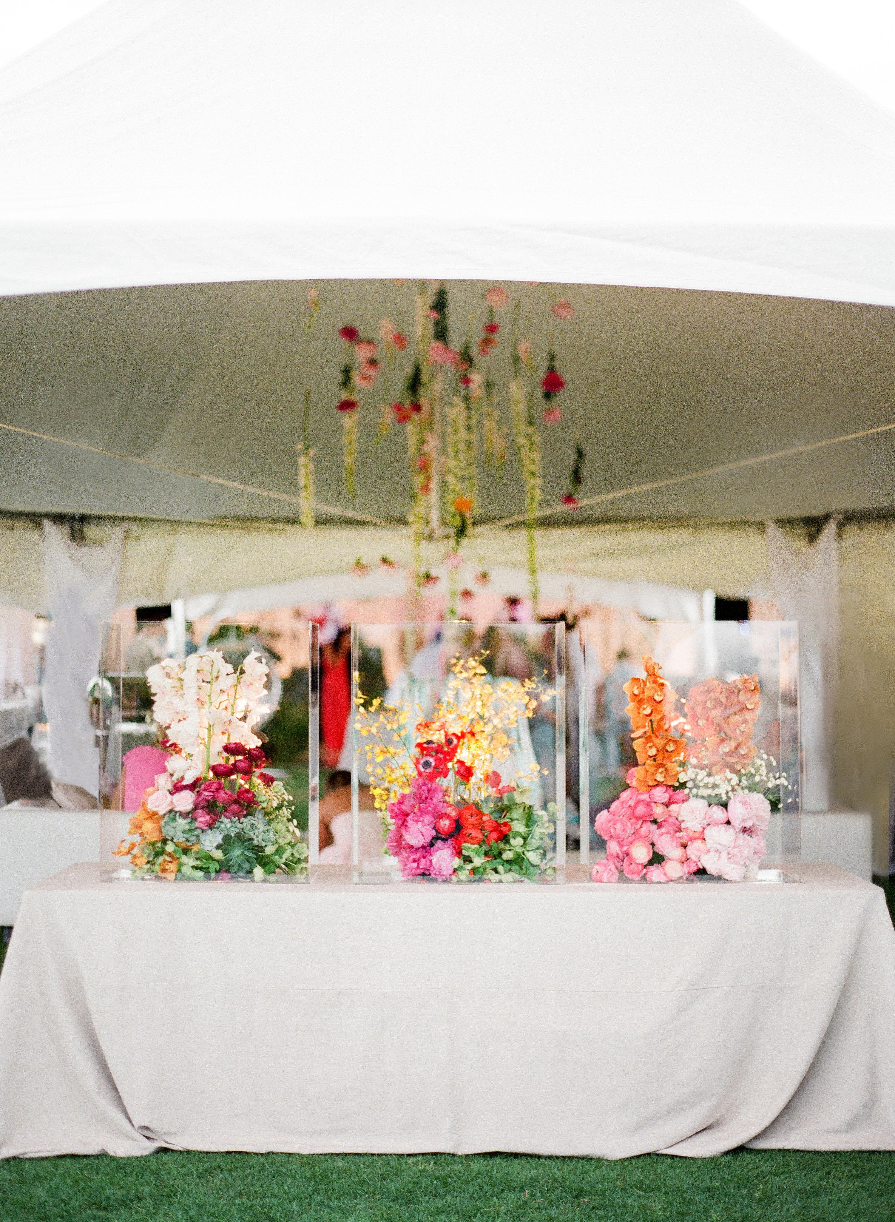 wedding floral display