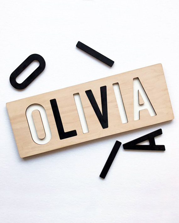 flower girl gift guide etsy name puzzle cutout