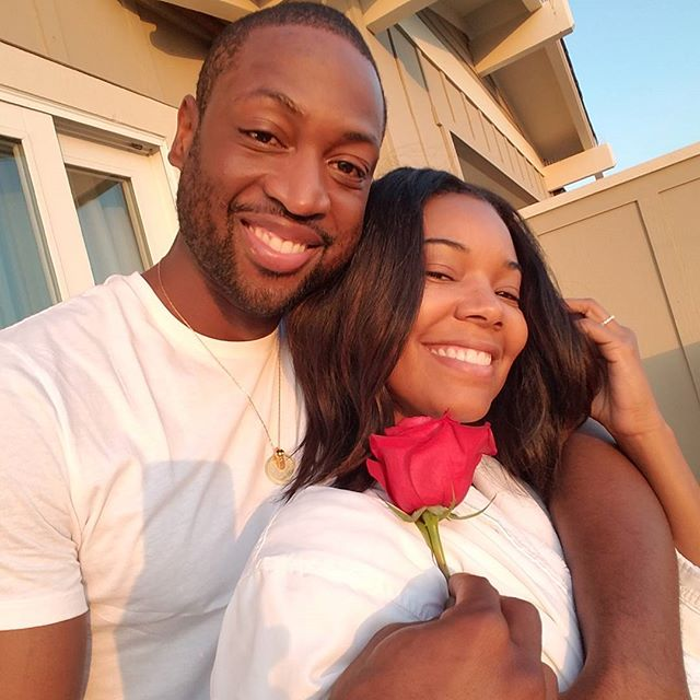 Gabrielle Union and Dwyane Wade wedding anniversary post on Instagram