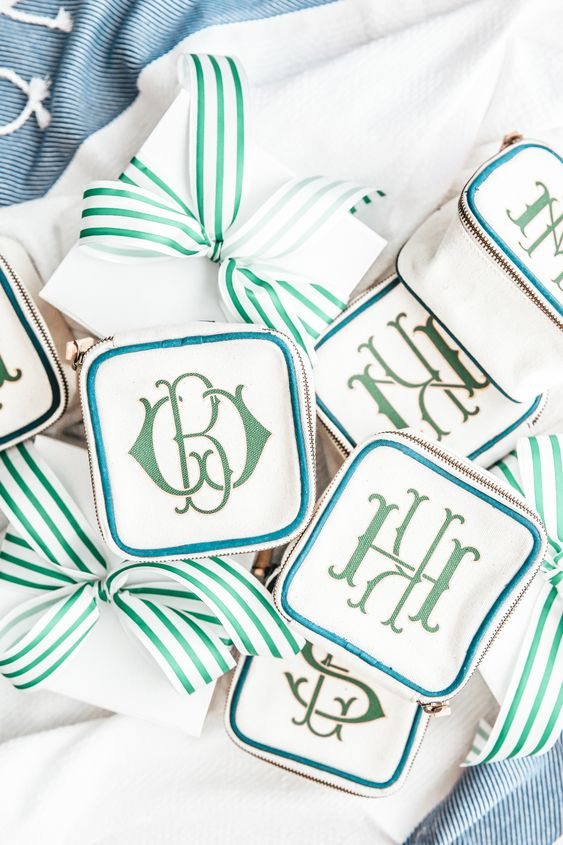 Monogram Cases bachelorette party favors