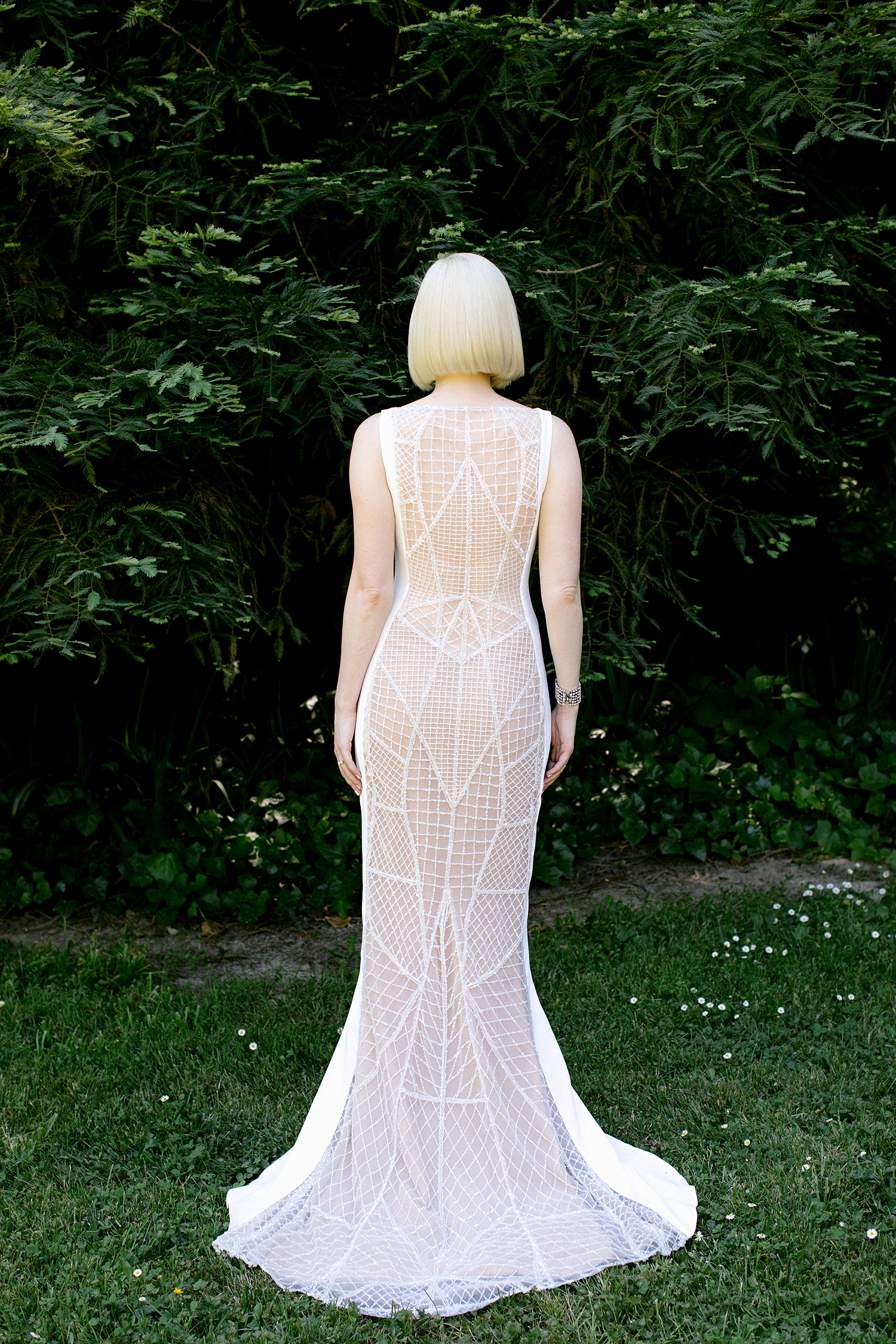 kendall jackson wedding back of bridal gown