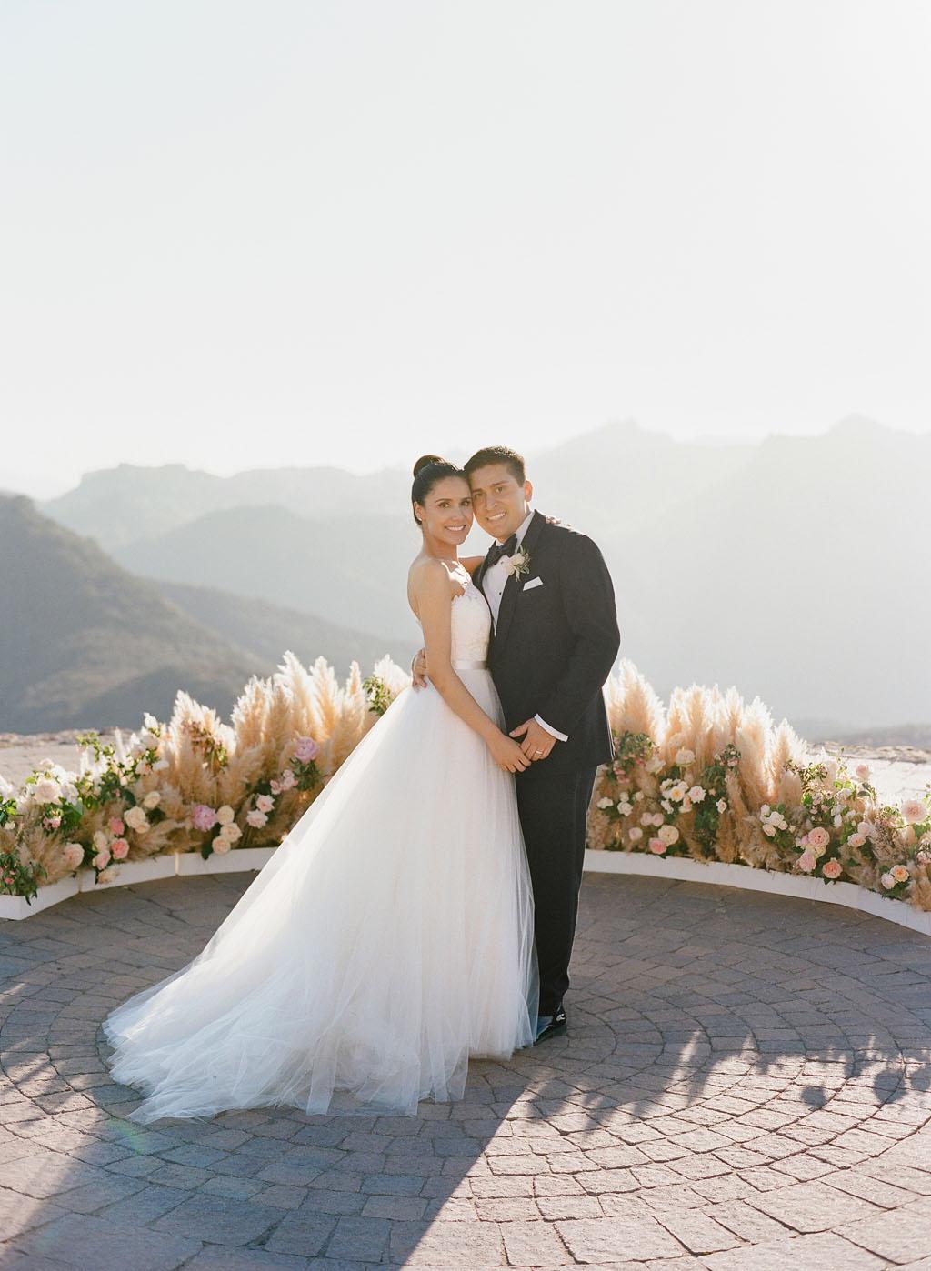 aislinn eric wedding malibu bride groom