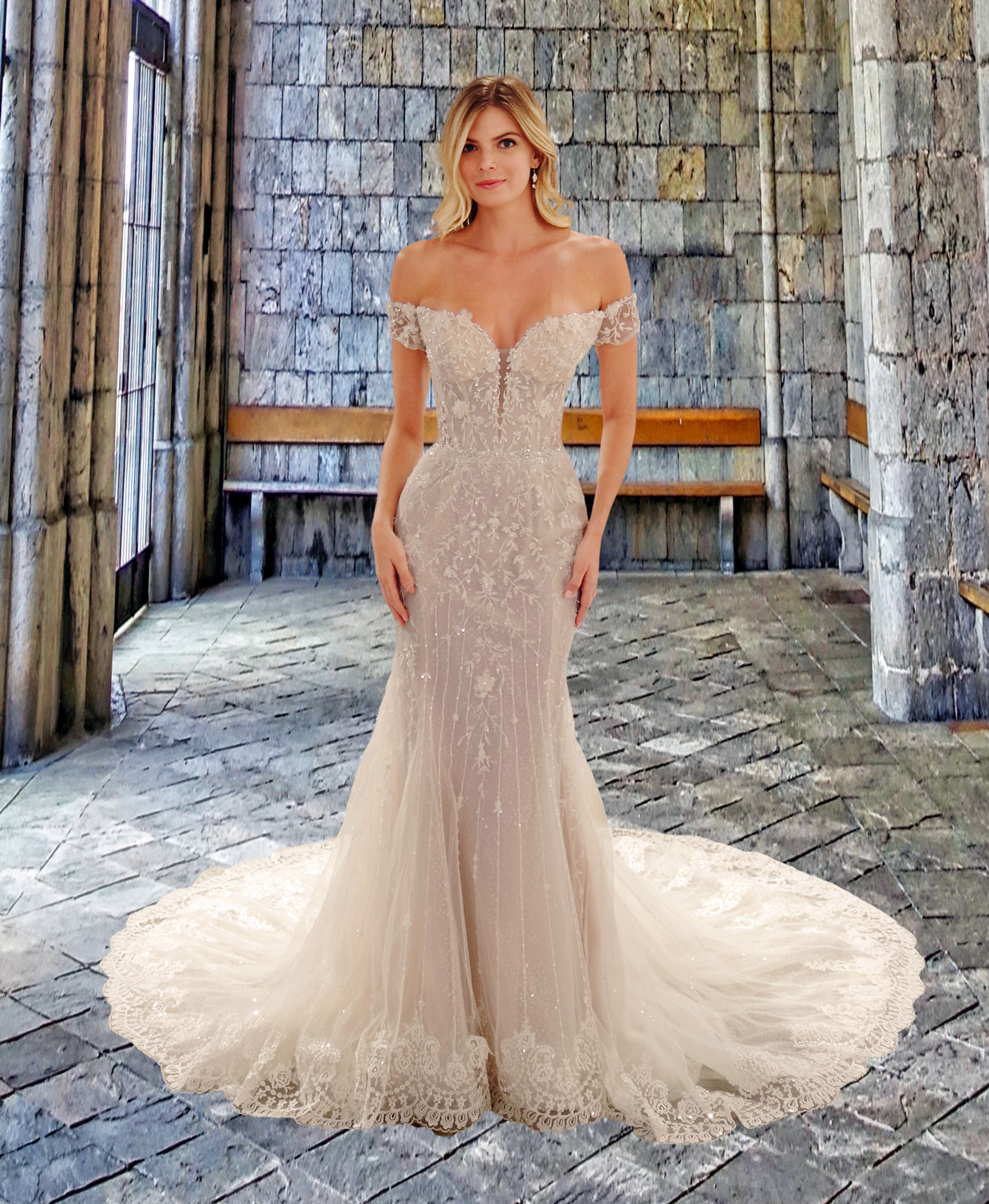 Eve of Milady wedding dress spring 2019 sweetheart off-the shoulder trumpet gown
