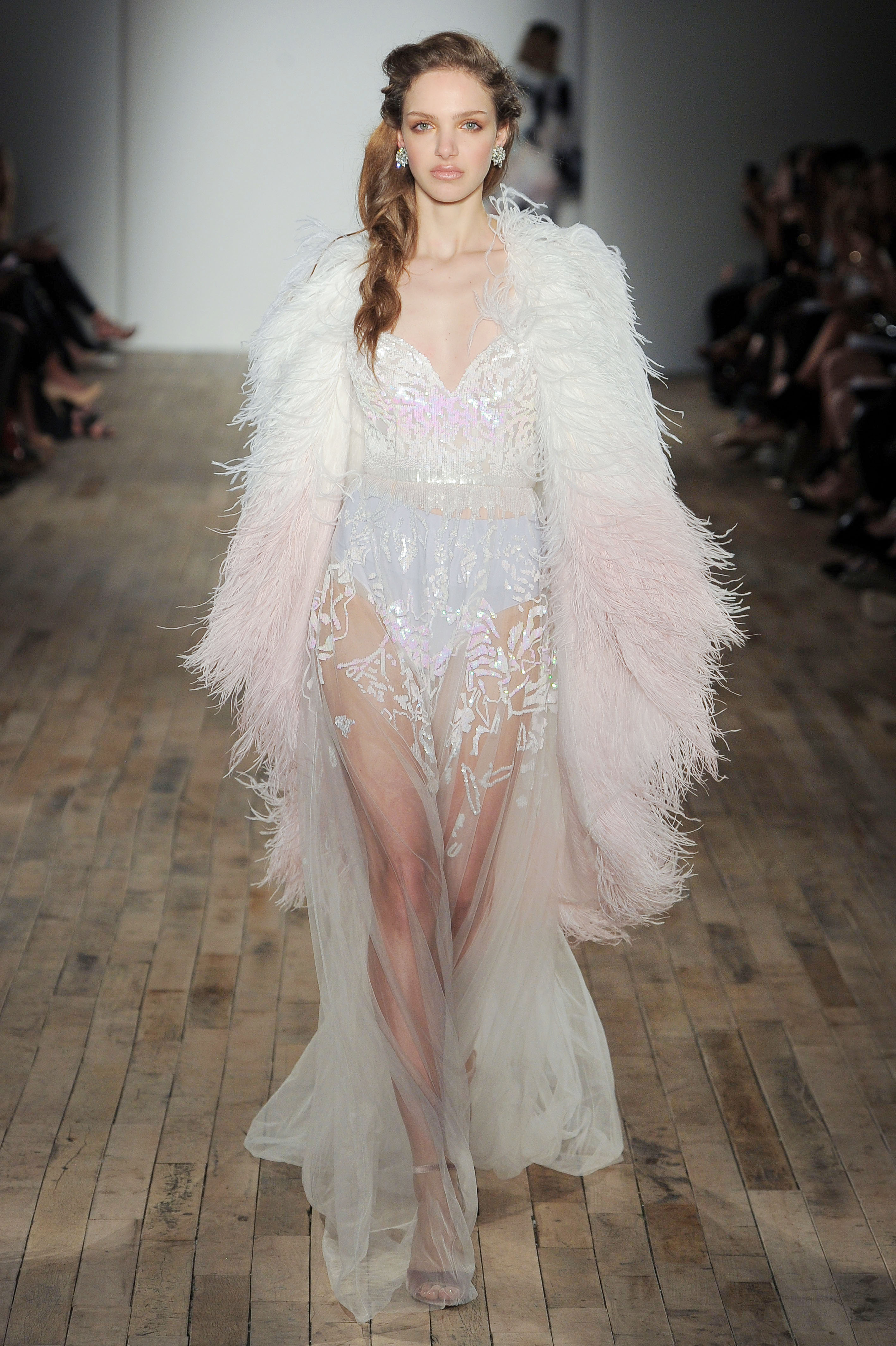 feather sheath Hayley Paige Spring 2018 Wedding Dress Collection