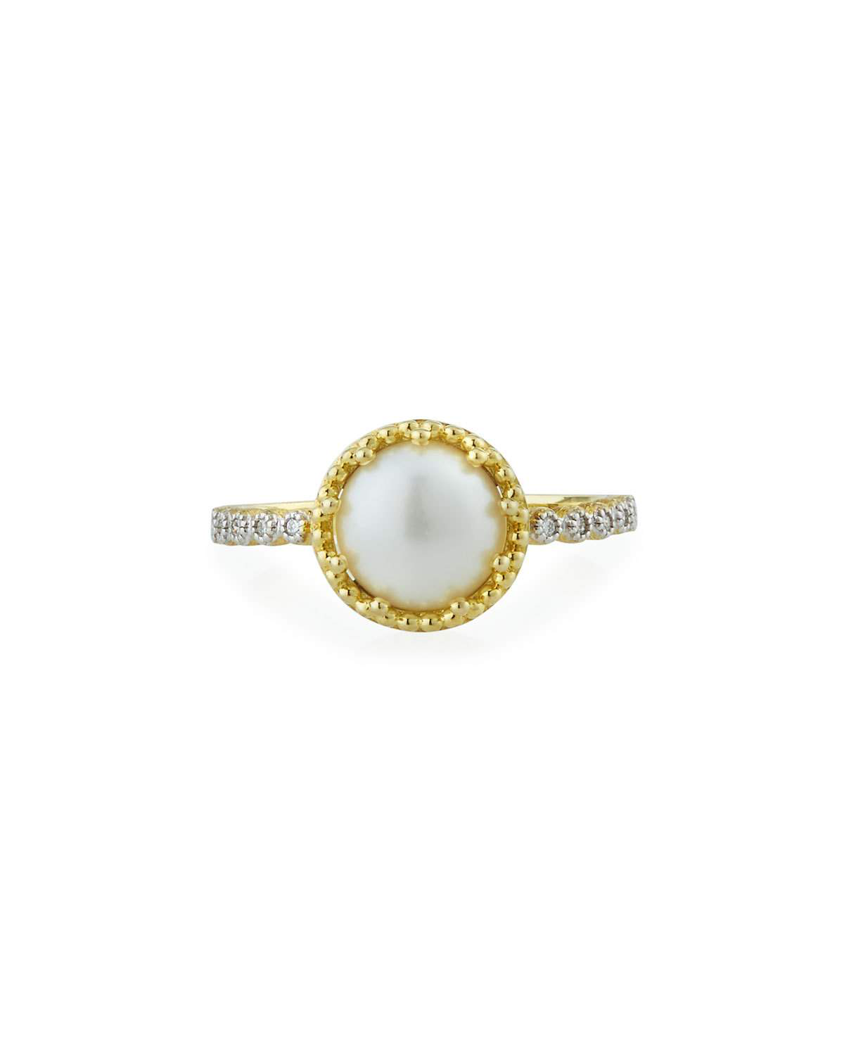 "Jude Frances ""Provence"" 18-Karat Pearl and Diamond Ring"