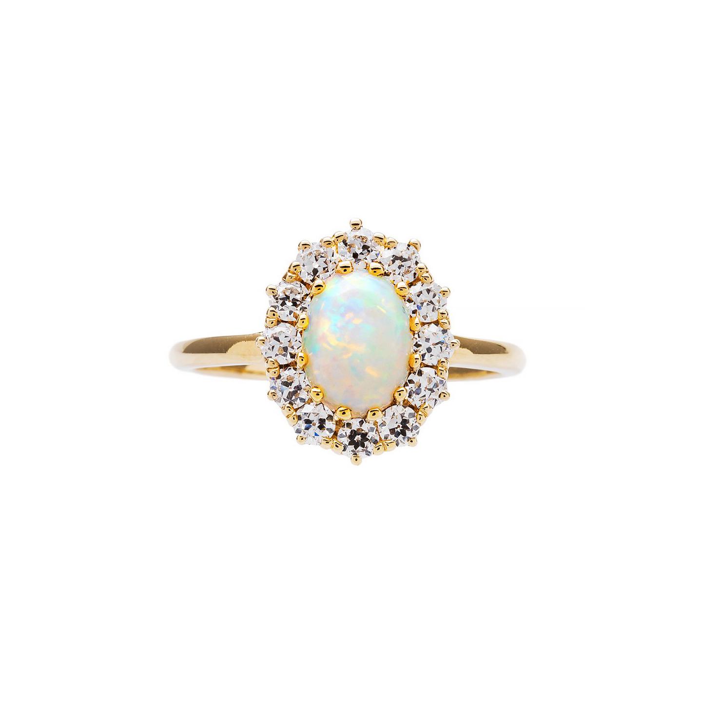 Anna Sheffield Opal Engagement Ring