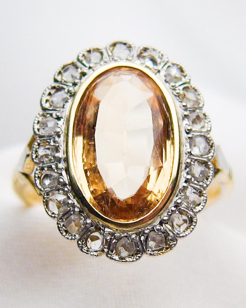Victorian Topaz Diamond Ring