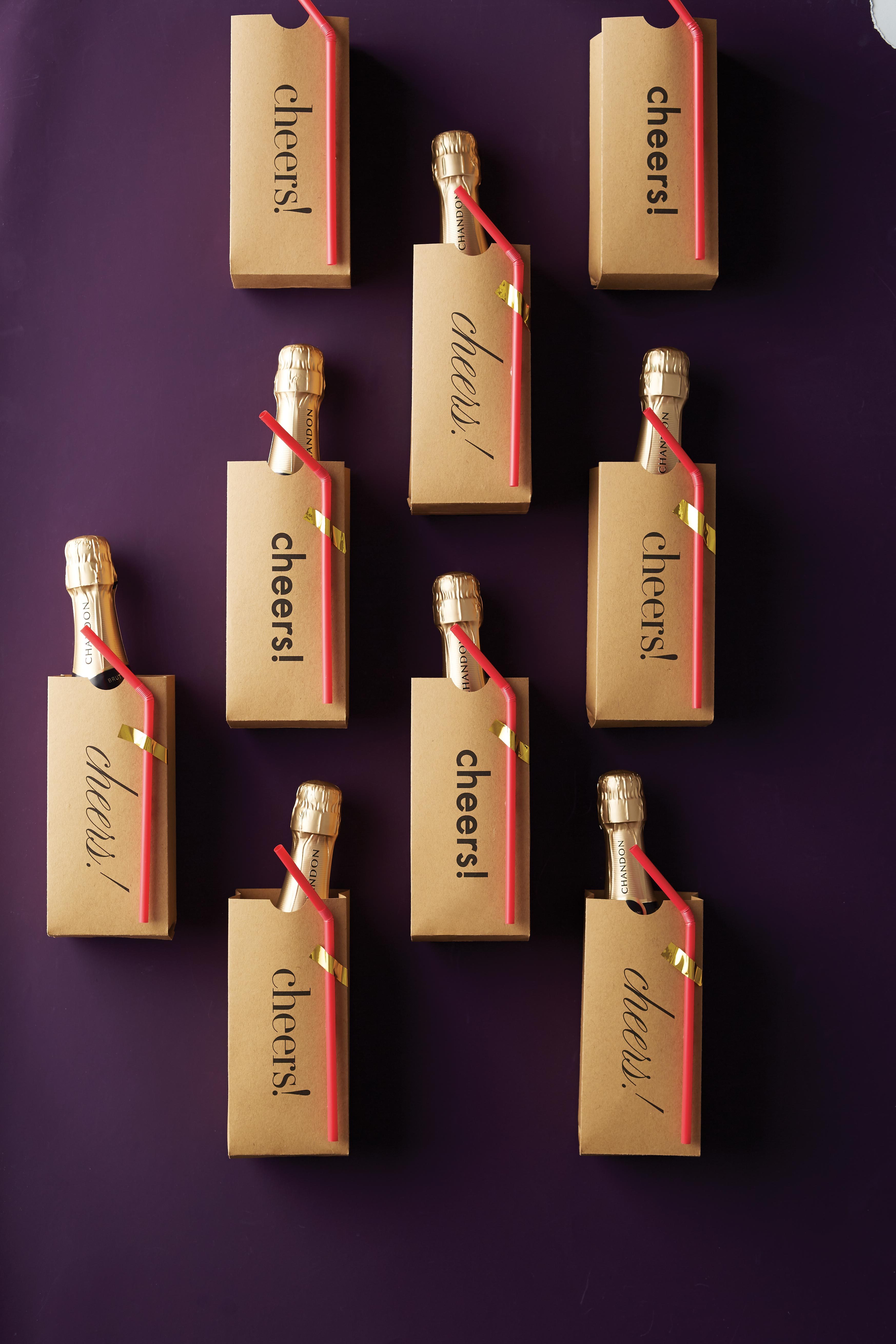 DIY Sparkling Wine Wedding Favors