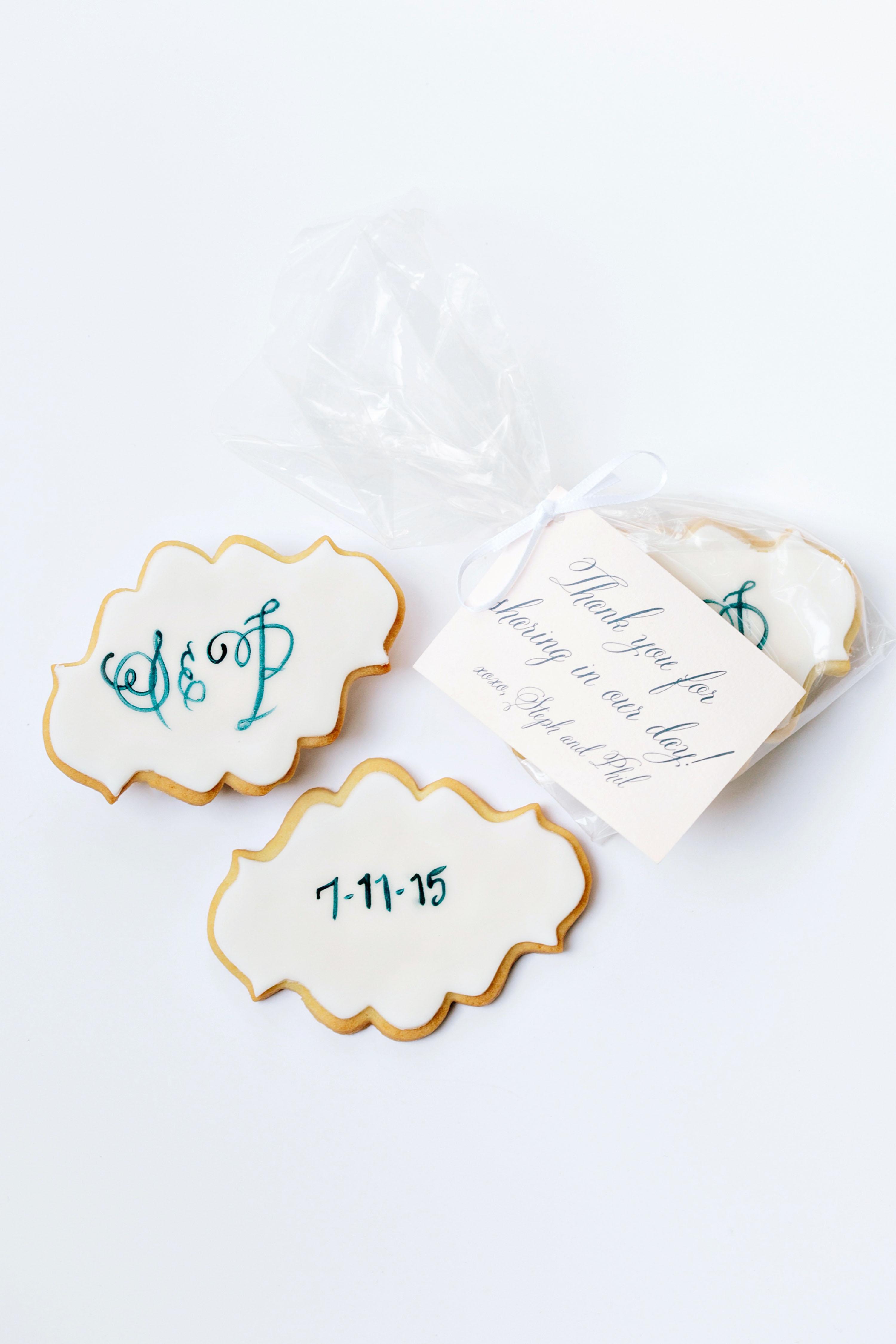 stephanie philip wedding cookies