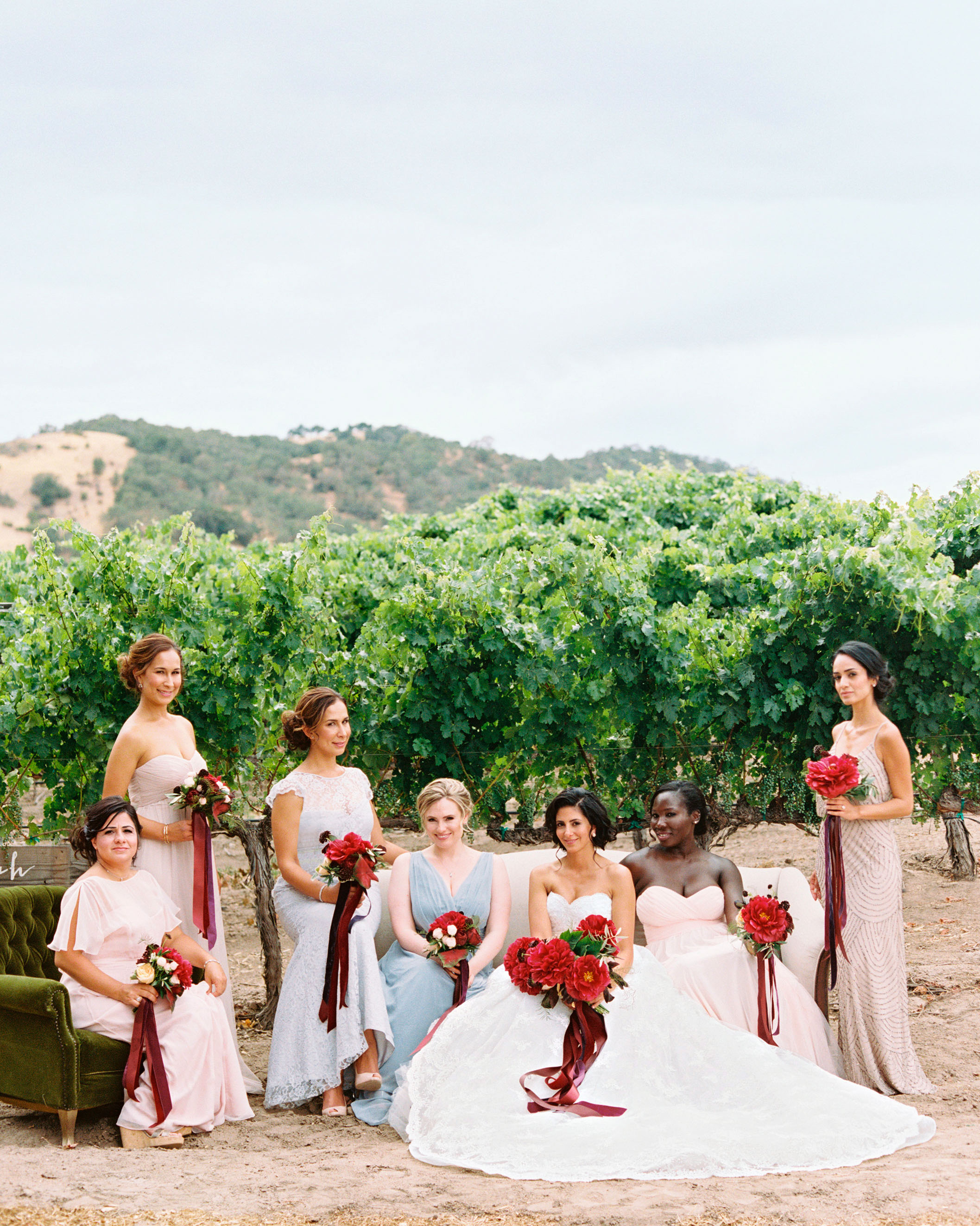 hana olu wedding california bridesmaids