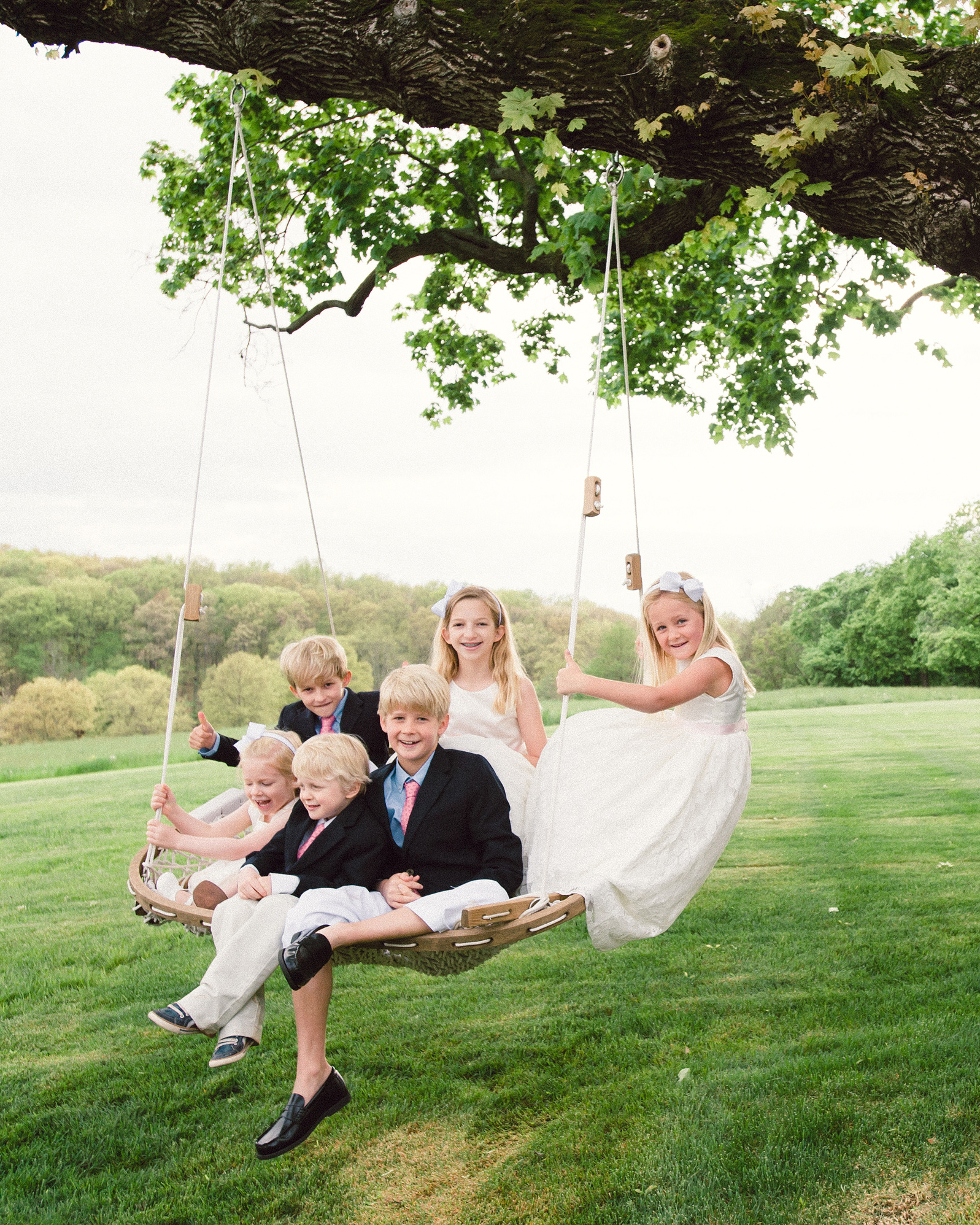 katy andrew wedding swing