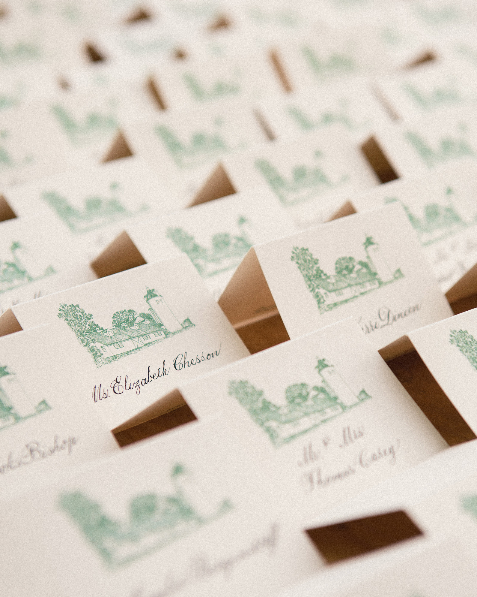 katy andrew wedding escort cards