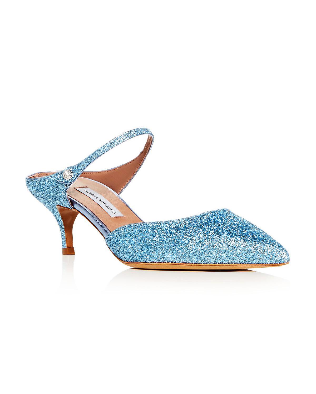 """Tabitha Simmons """"Liberty"""" Glitter Mules"""