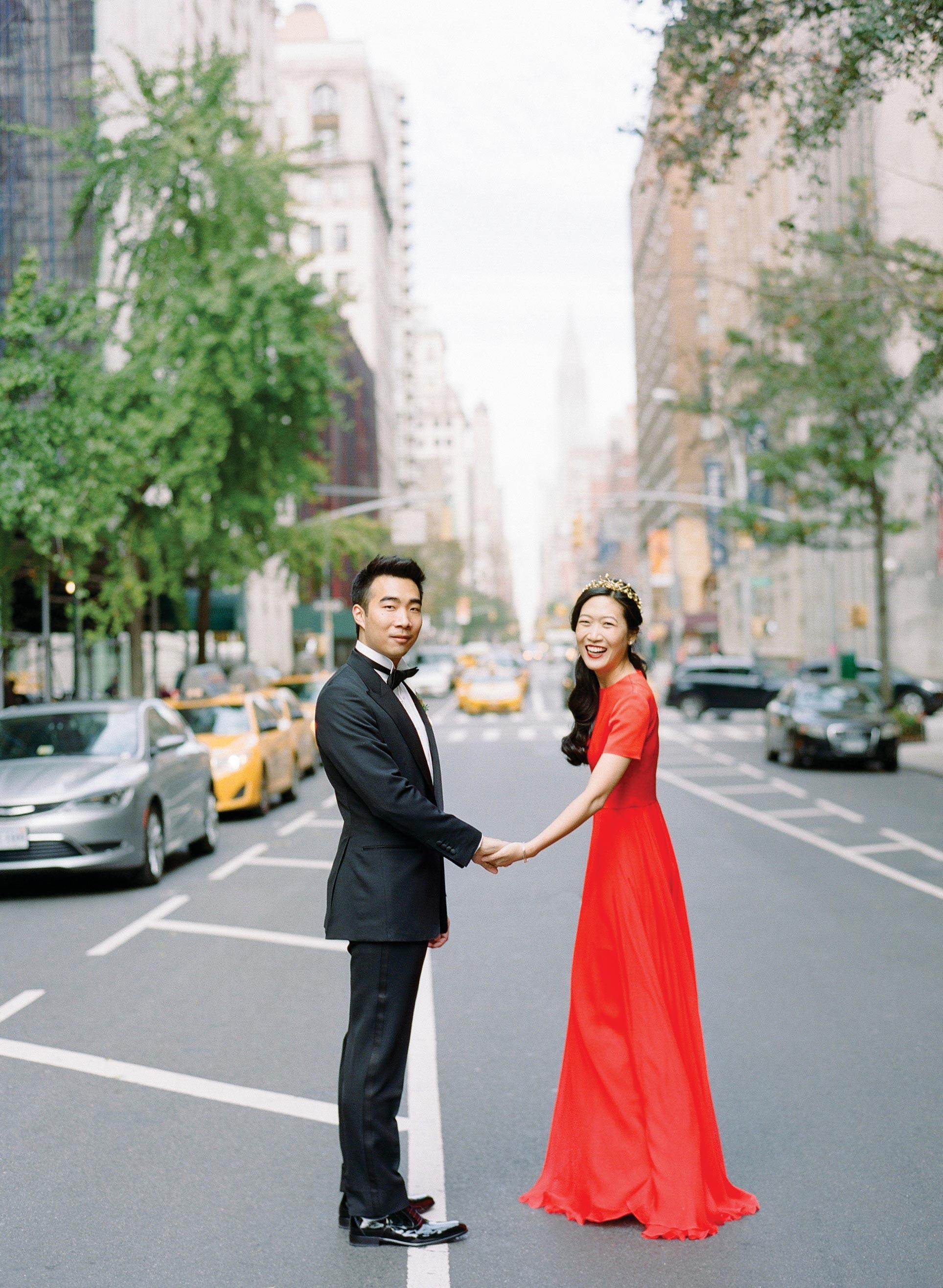 glara matthew wedding couple portrait city street