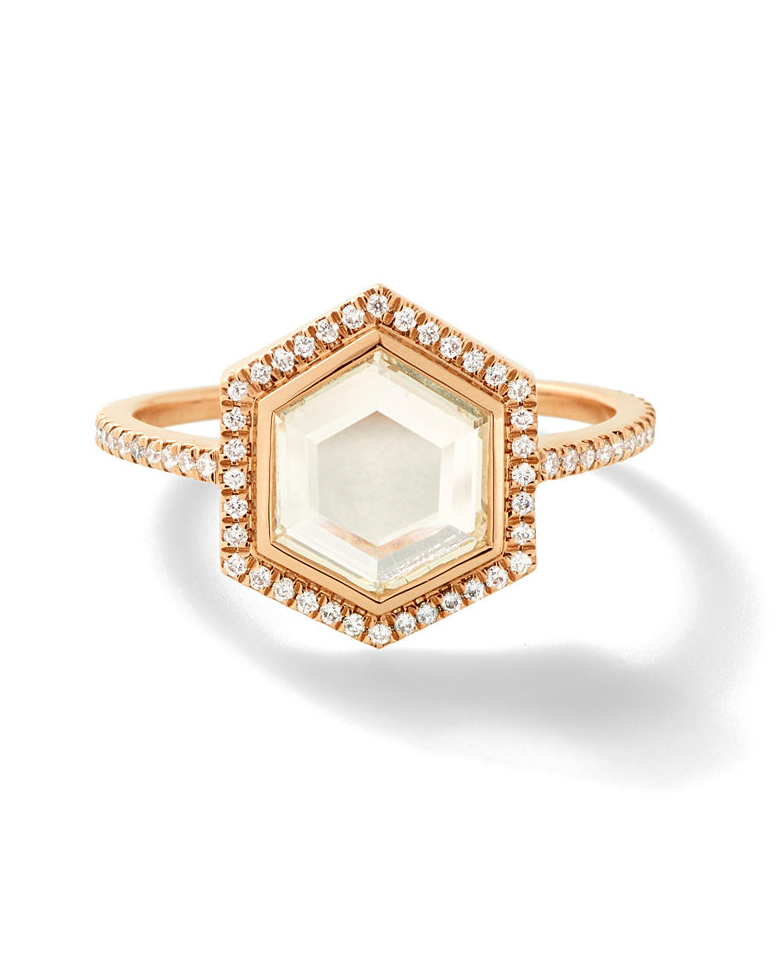 Hex Shaped diamond ring