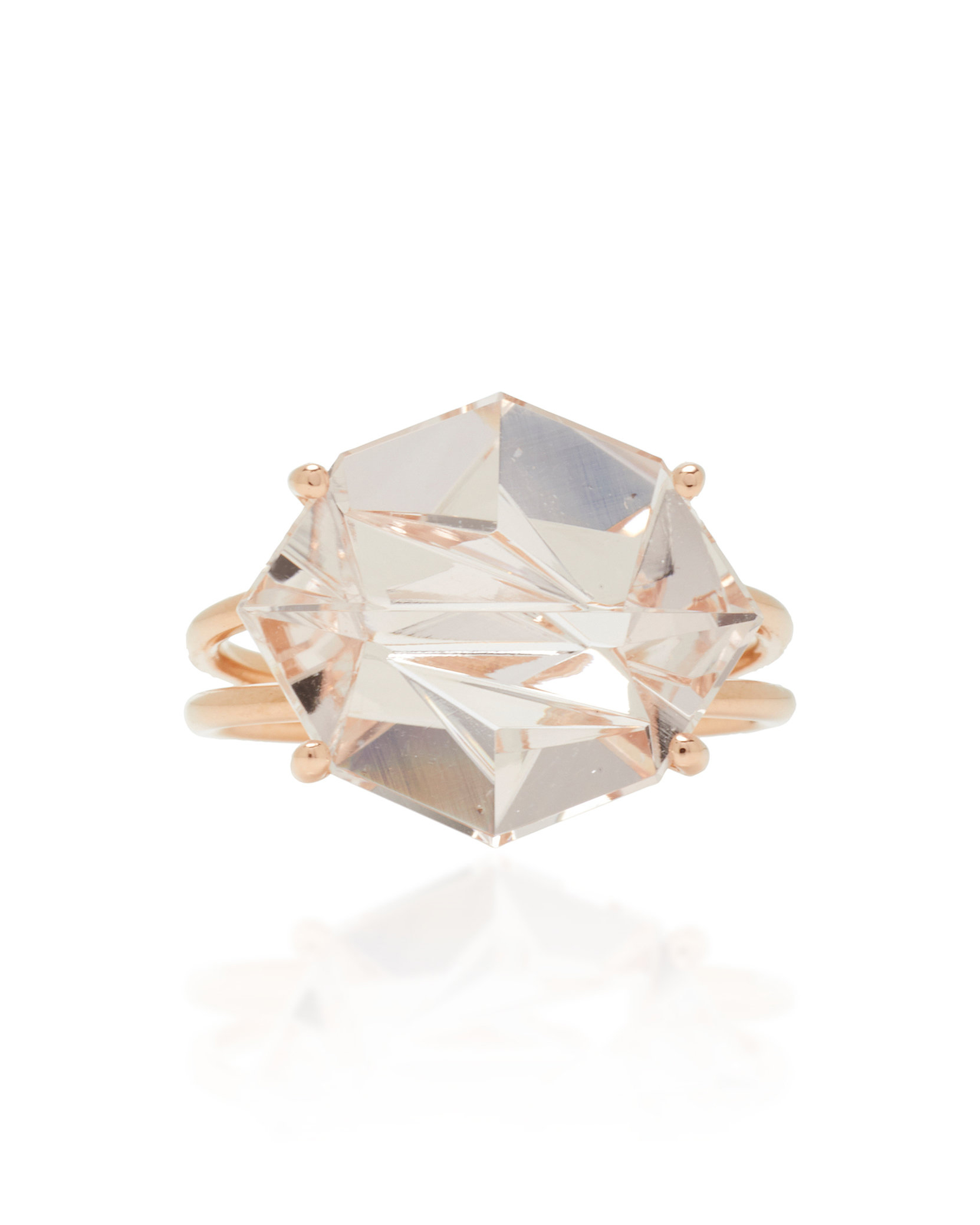 18-Karat Rose Gold Morganite Ring