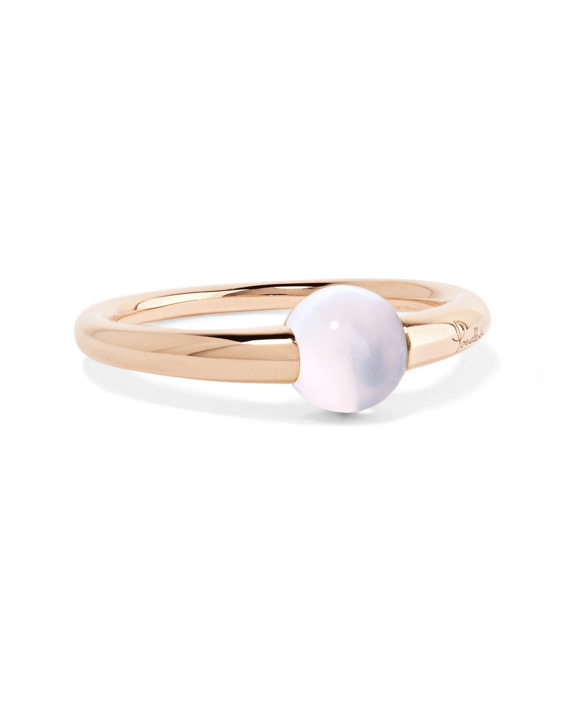 18-Karat Rose Gold Moonstone Ring