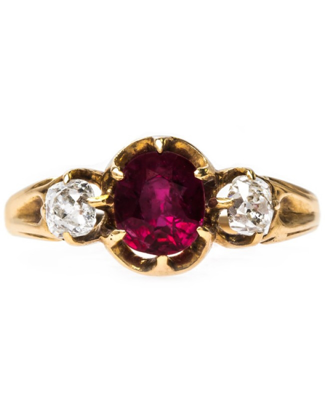 Victorian Era Ruby Engagement Ring