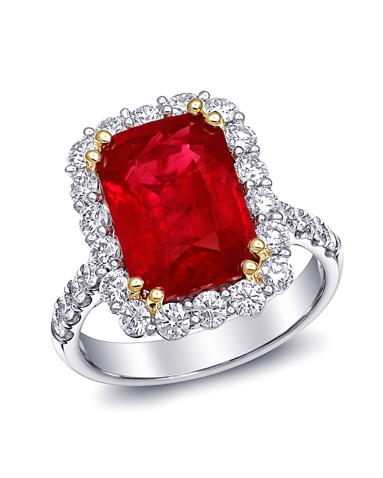 Emerald-Cut Ruby Engagement Ring