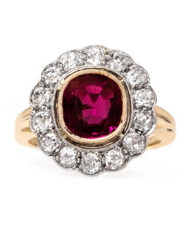 Vintage-Inspired Ruby Engagement Ring