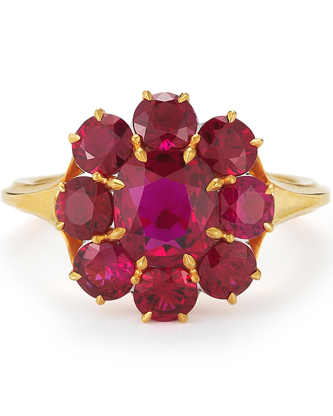 Ruby Berry Cluster Engagement Ring