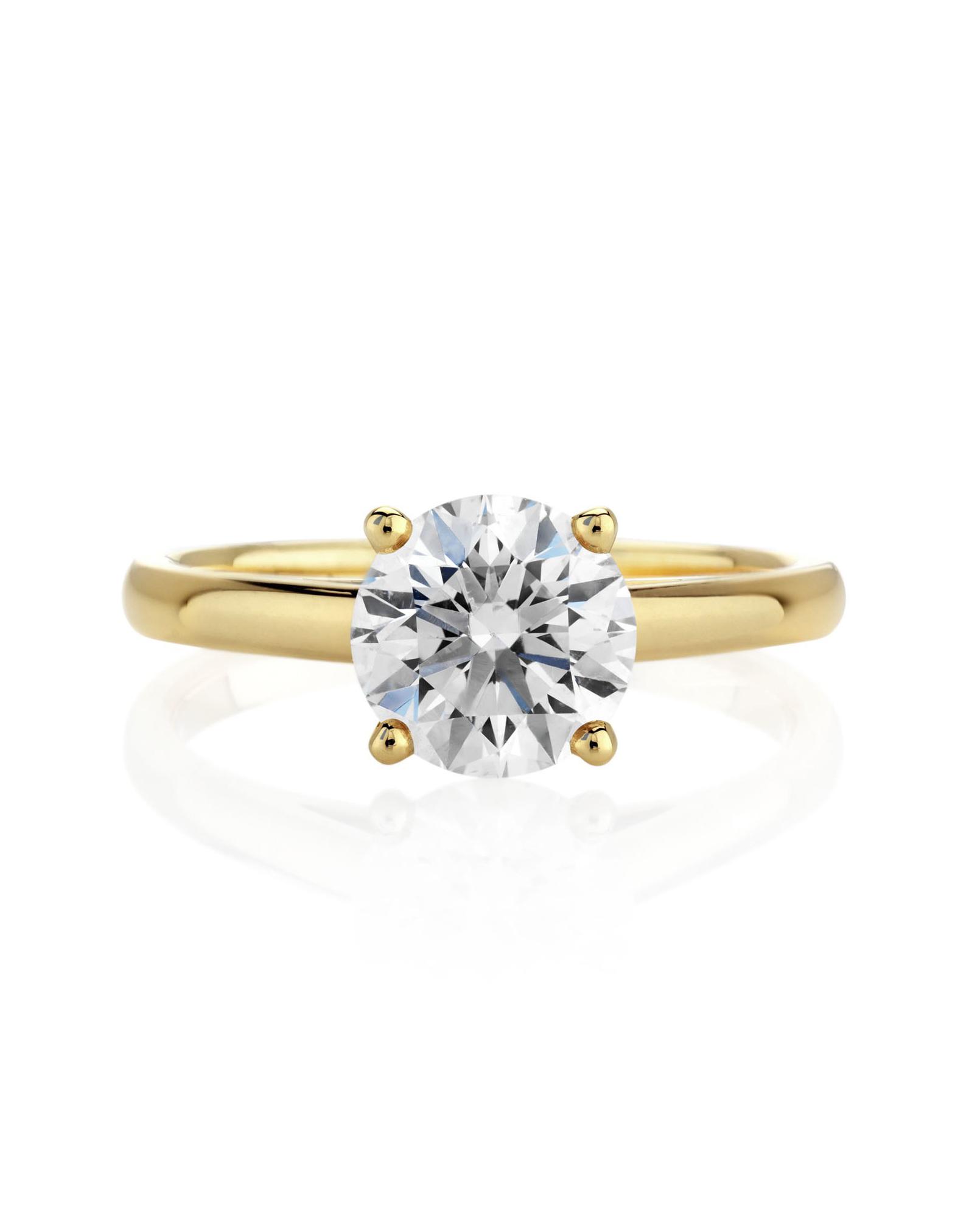d9b80e494e5a8 34 Yellow Gold Engagement Rings | Martha Stewart Weddings