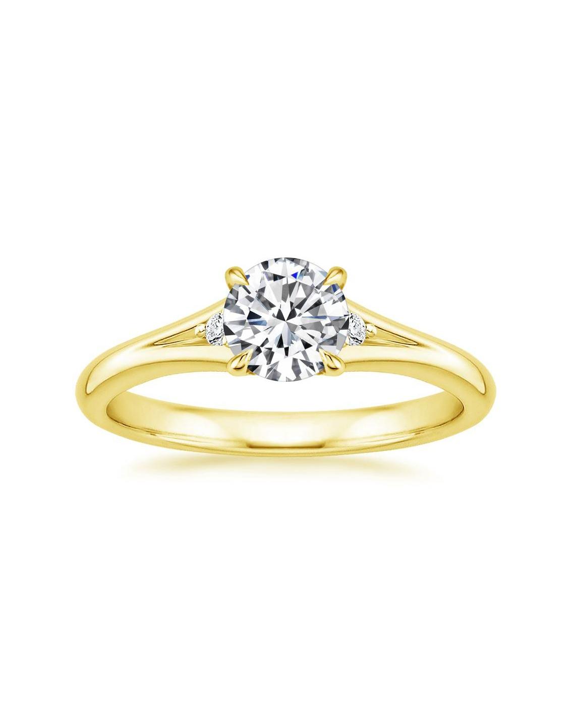 18K Yellow Gold Lena Diamond Ring
