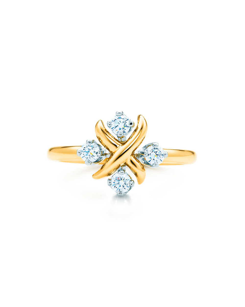 Lynn Ring 18k gold and platinum round diamonds