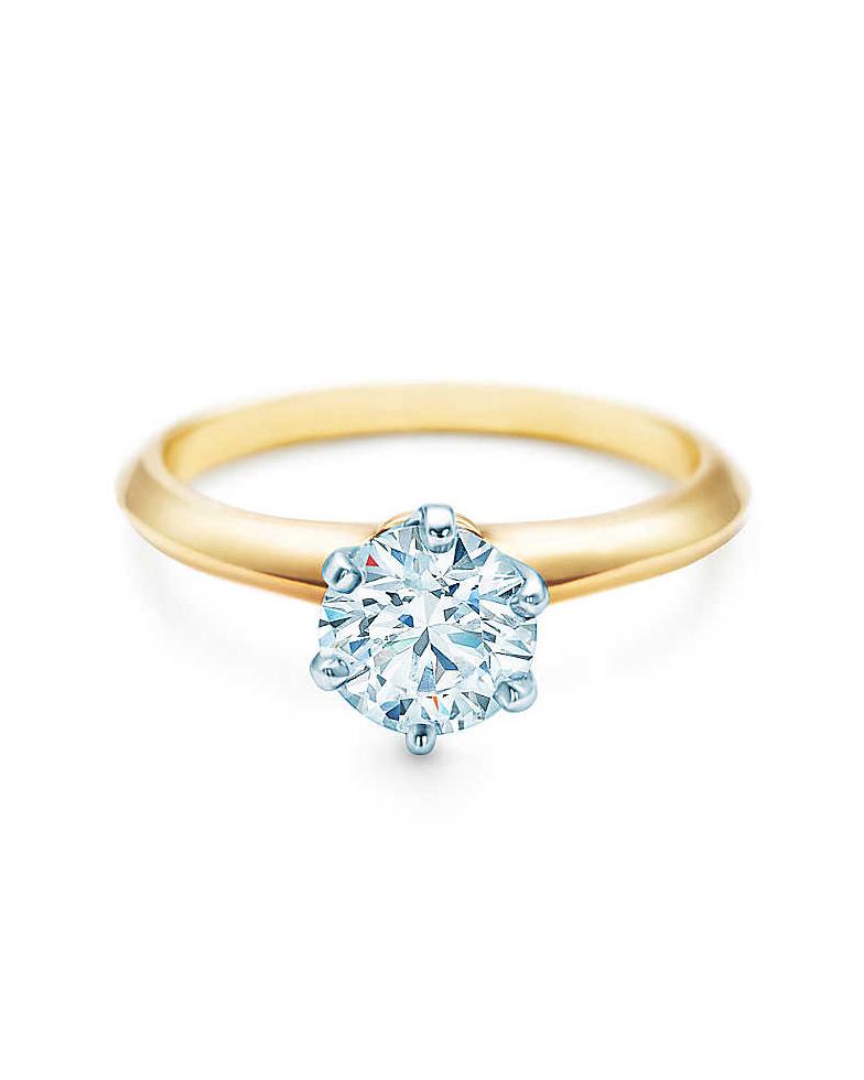 18-Karat Yellow Gold Diamond Ring