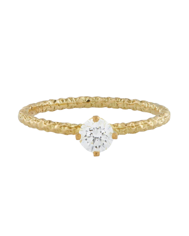 Homespun Solitaire Diamond Ring