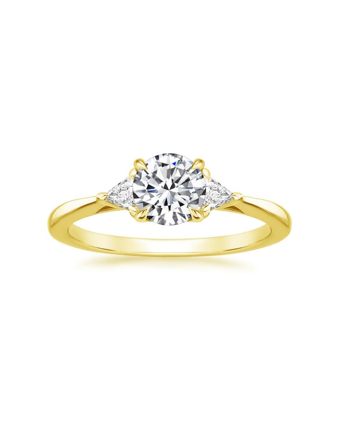 18K Yellow Gold Esprit Diamond Ring