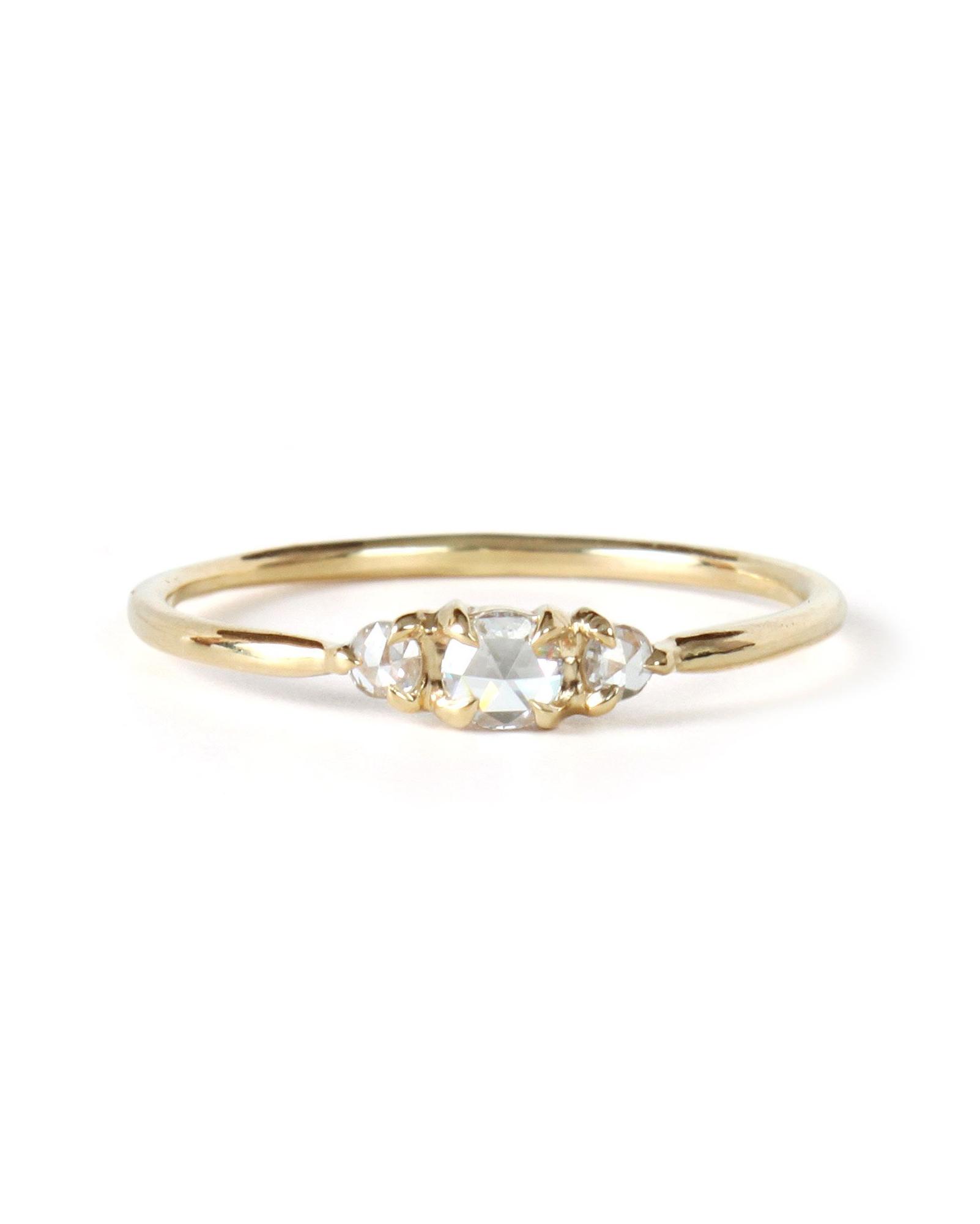rose cut diamonds sleepy beauty ring