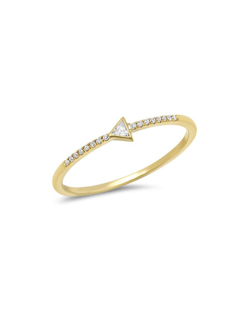 Diamond Mini Trillion Ring