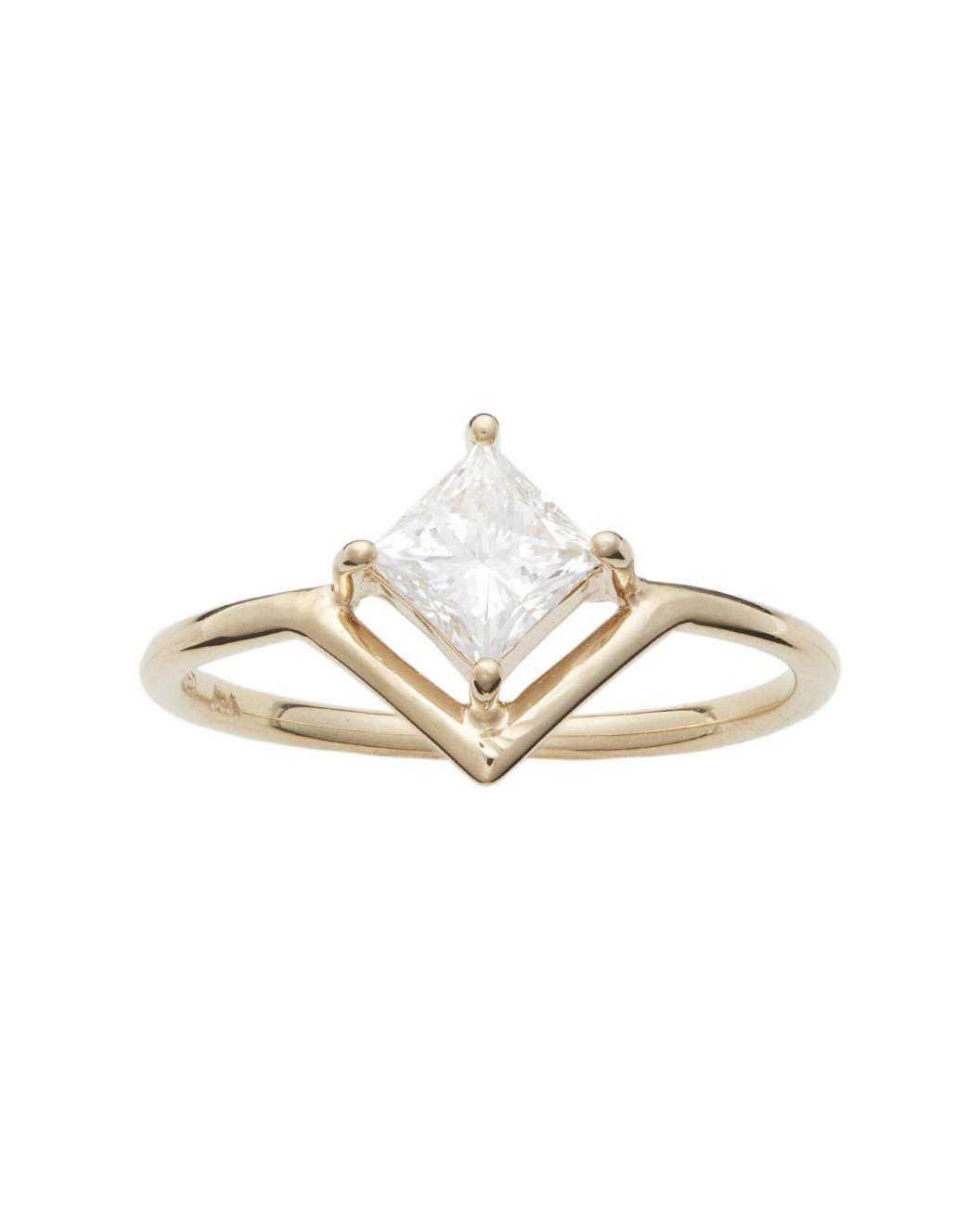 Nestled Princess-Cut Diamond Ring
