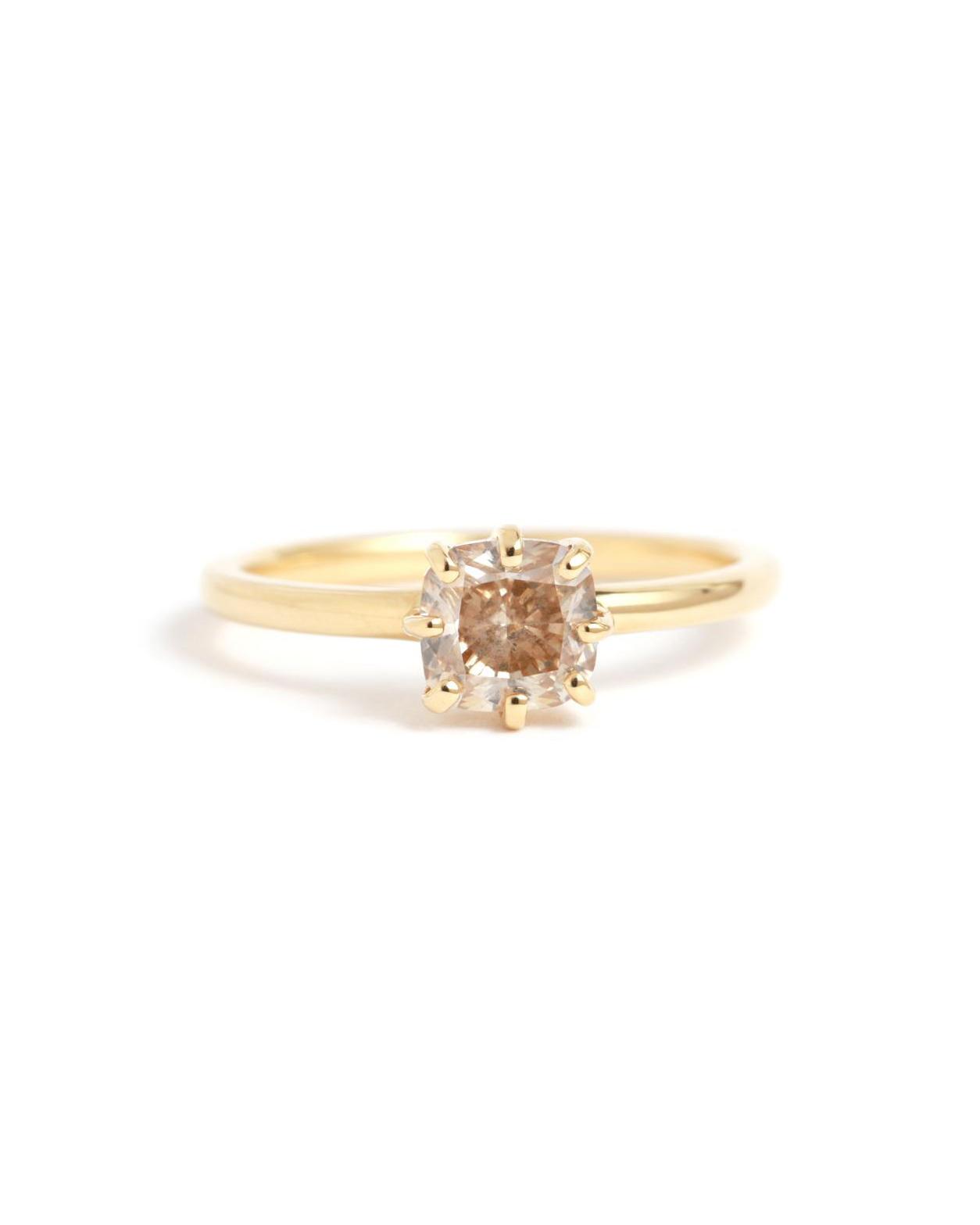 Gold Champagne Diamond Ring
